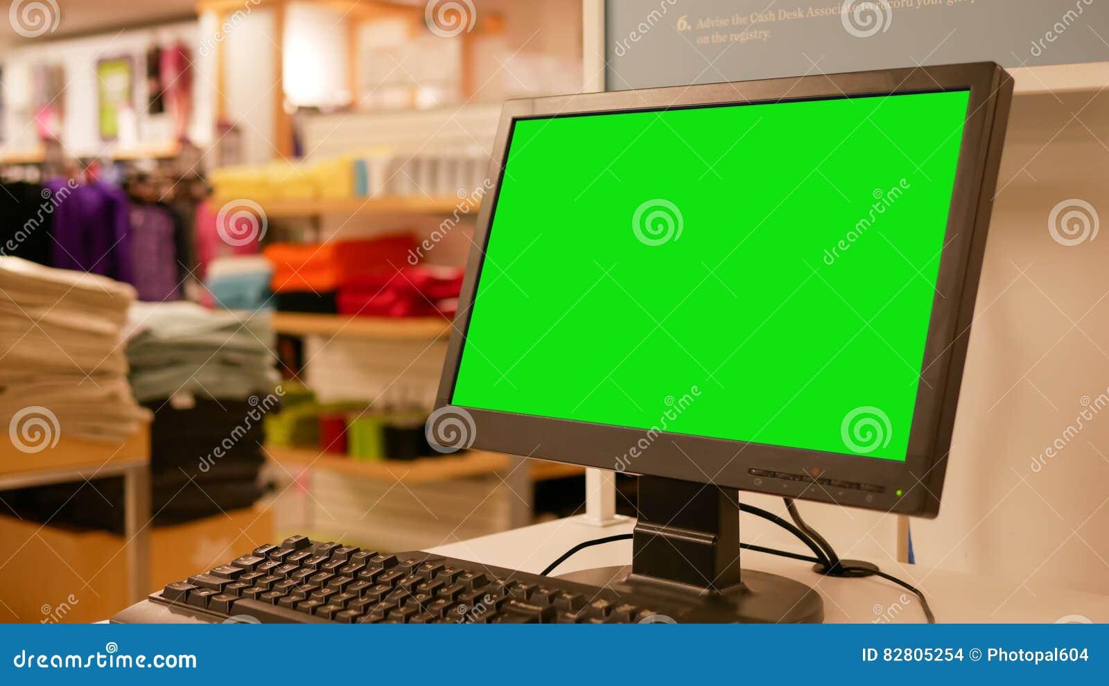 Grön affischtavla för din annons på datorskärmen
