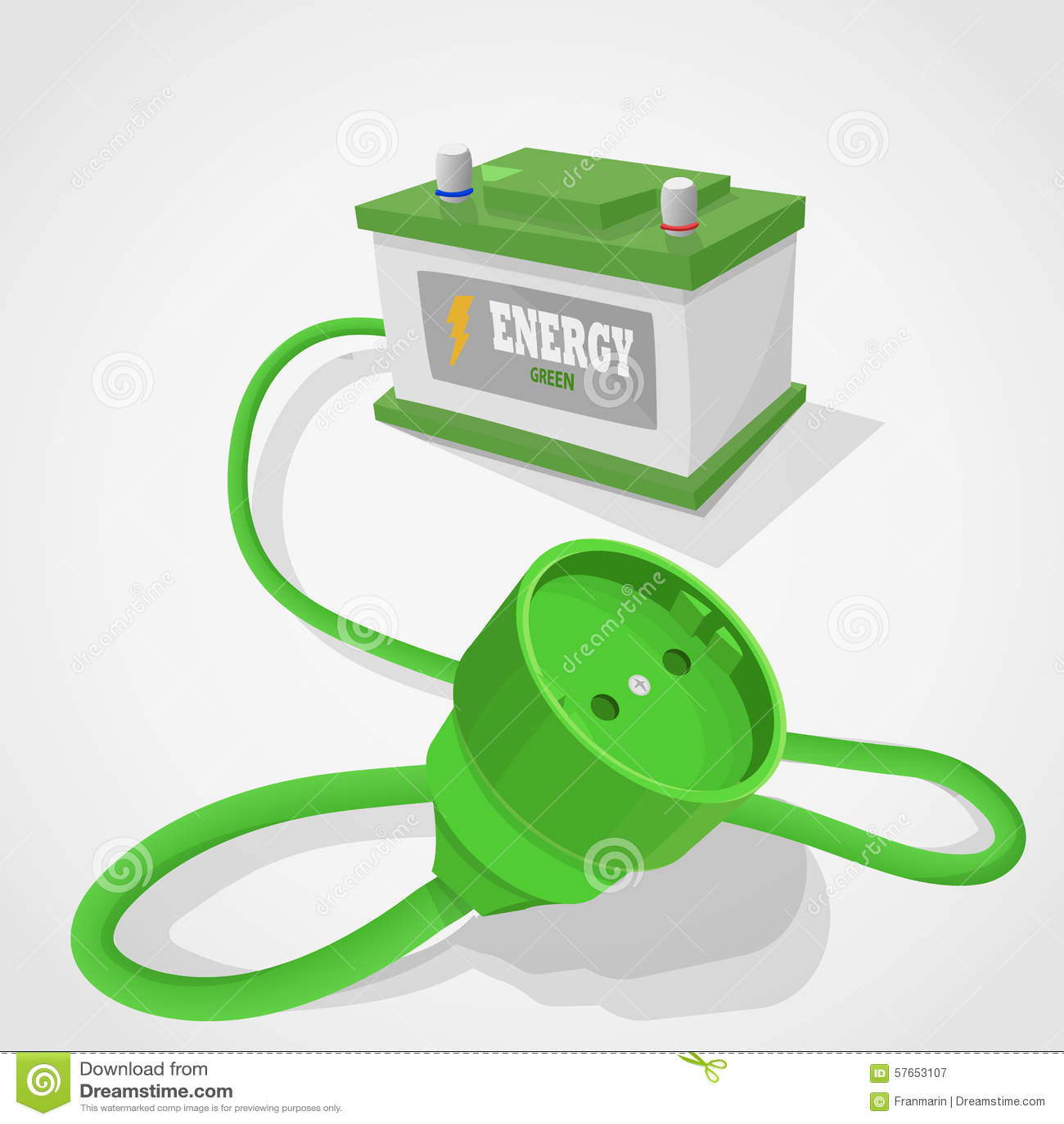 Grön energiackumulator för kontaktdon