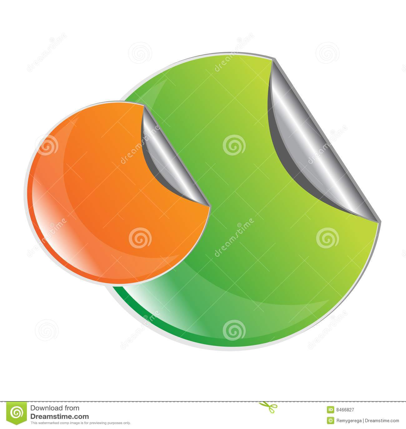 Grön etikett för orange skalning