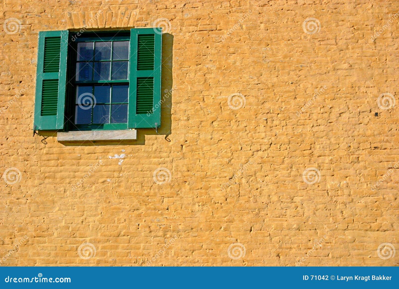 Grön fönsteryellow