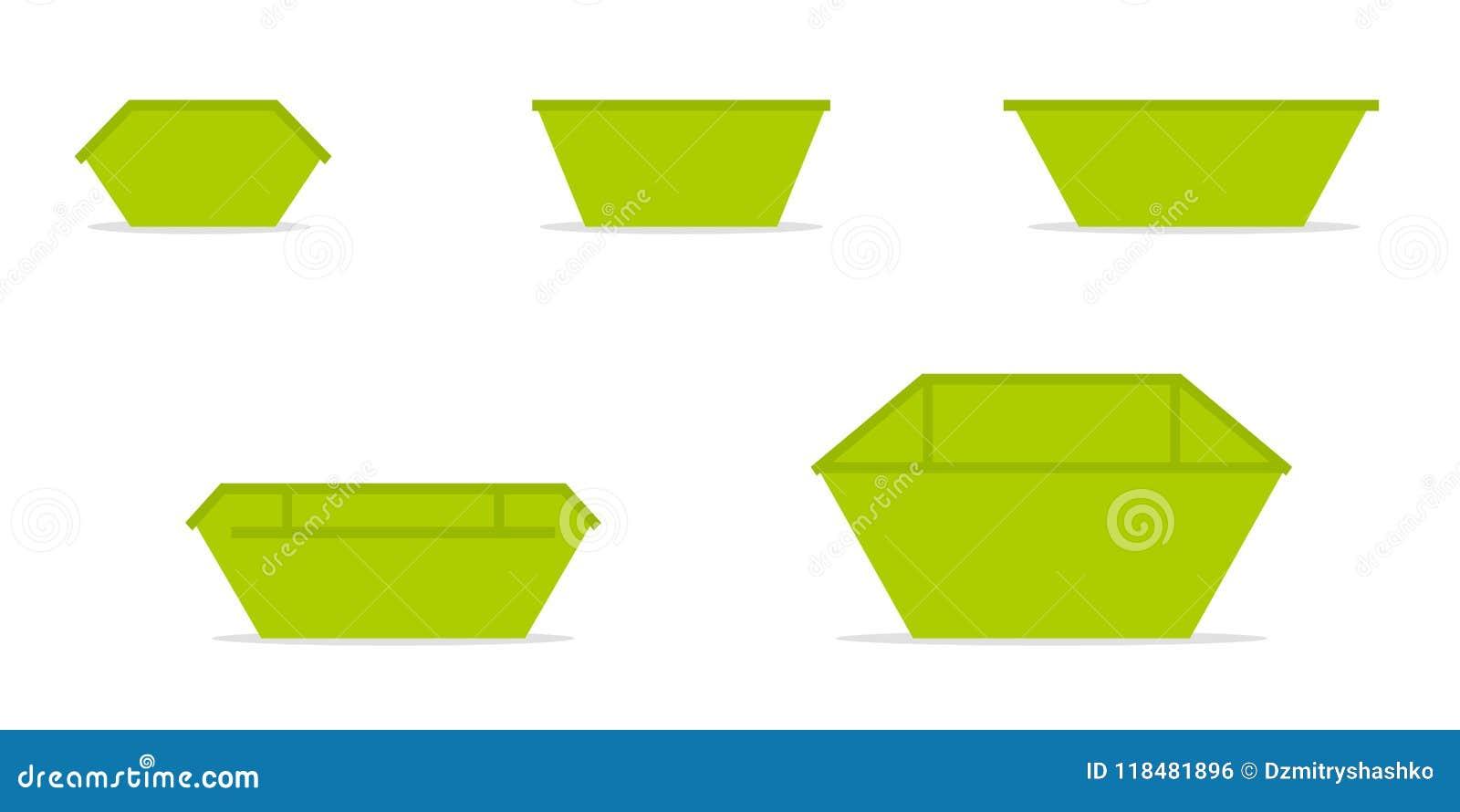 Grön förlorad uppsättning för överhoppfacksymbol