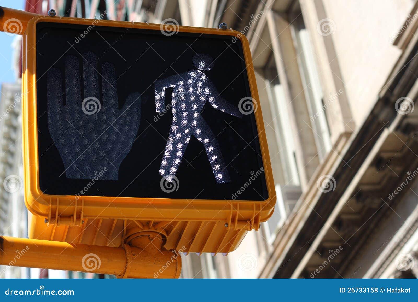Grön fot- signalering