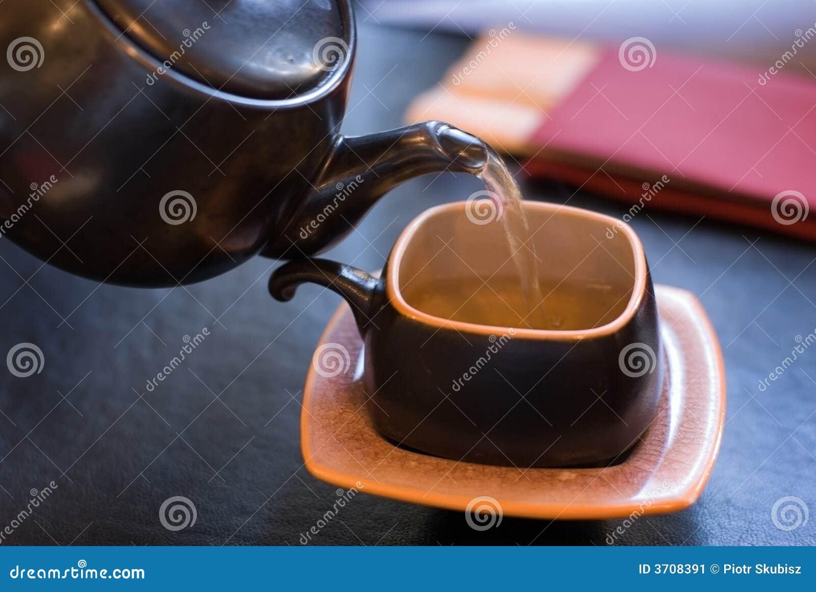 Grön hällande tea