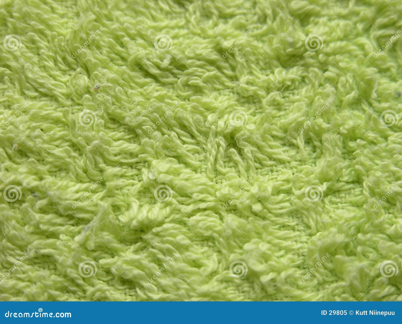 Grön handduk