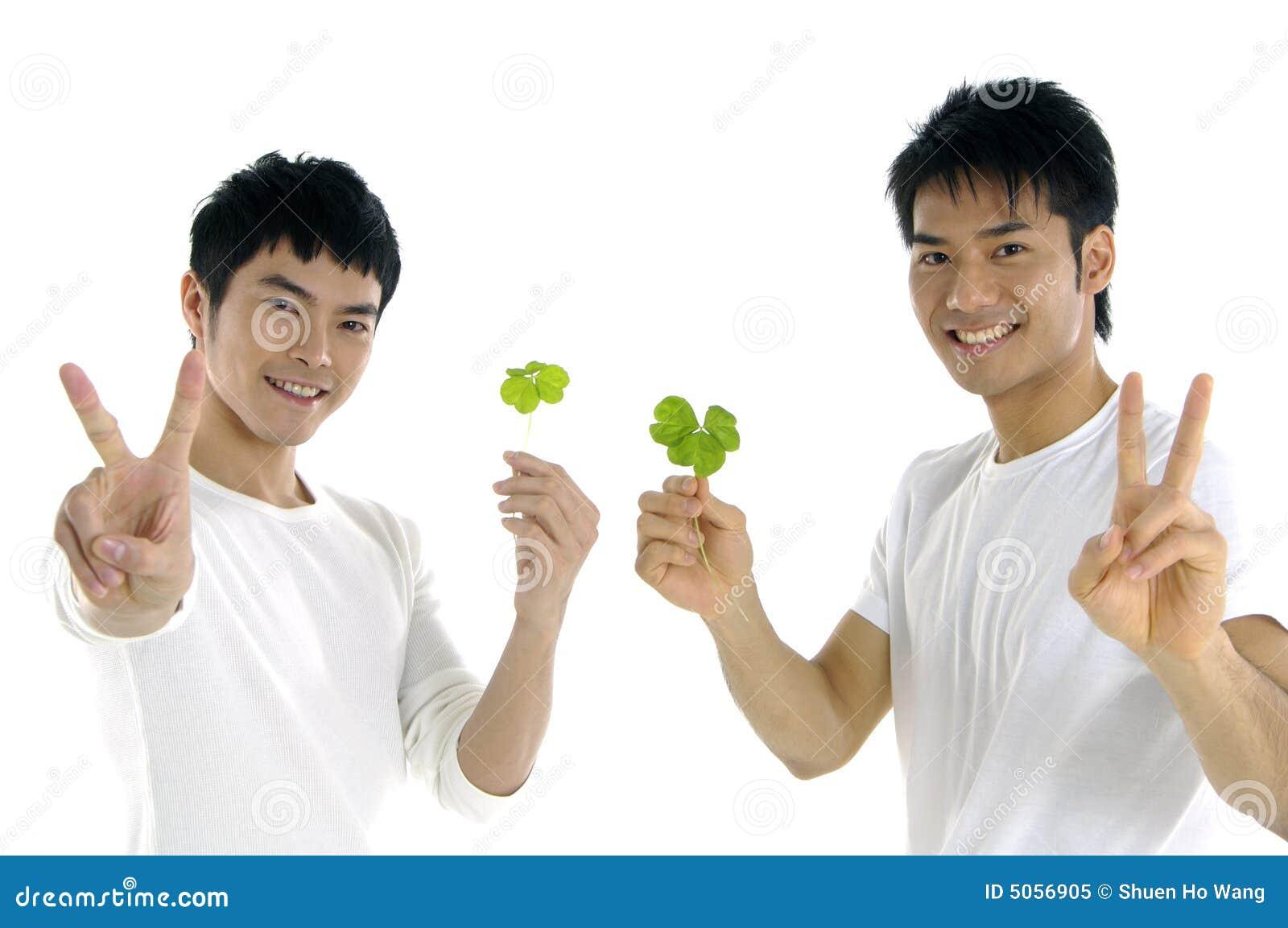 Grön holdingleaman upp