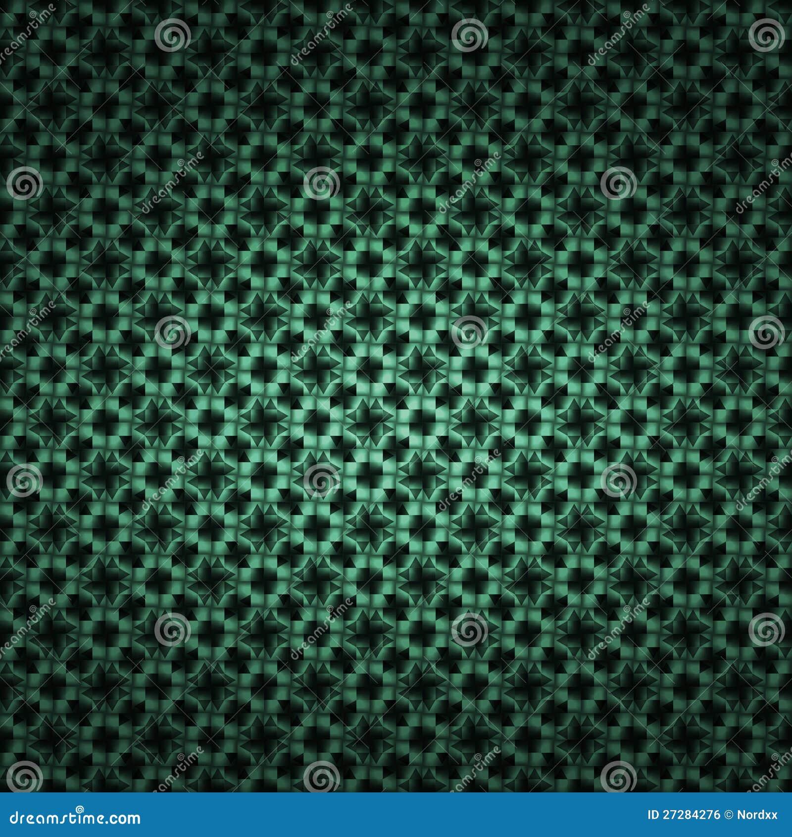 Grön mosaiktapestry