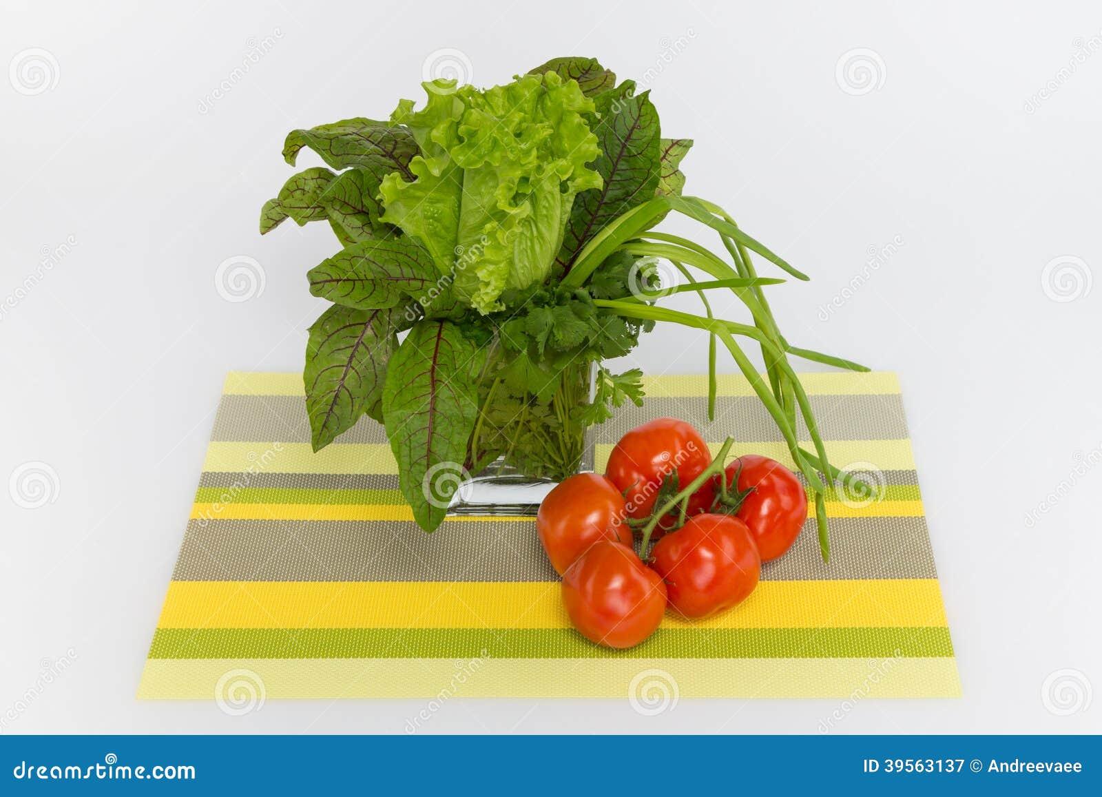 Grön och röd syra för tomater,
