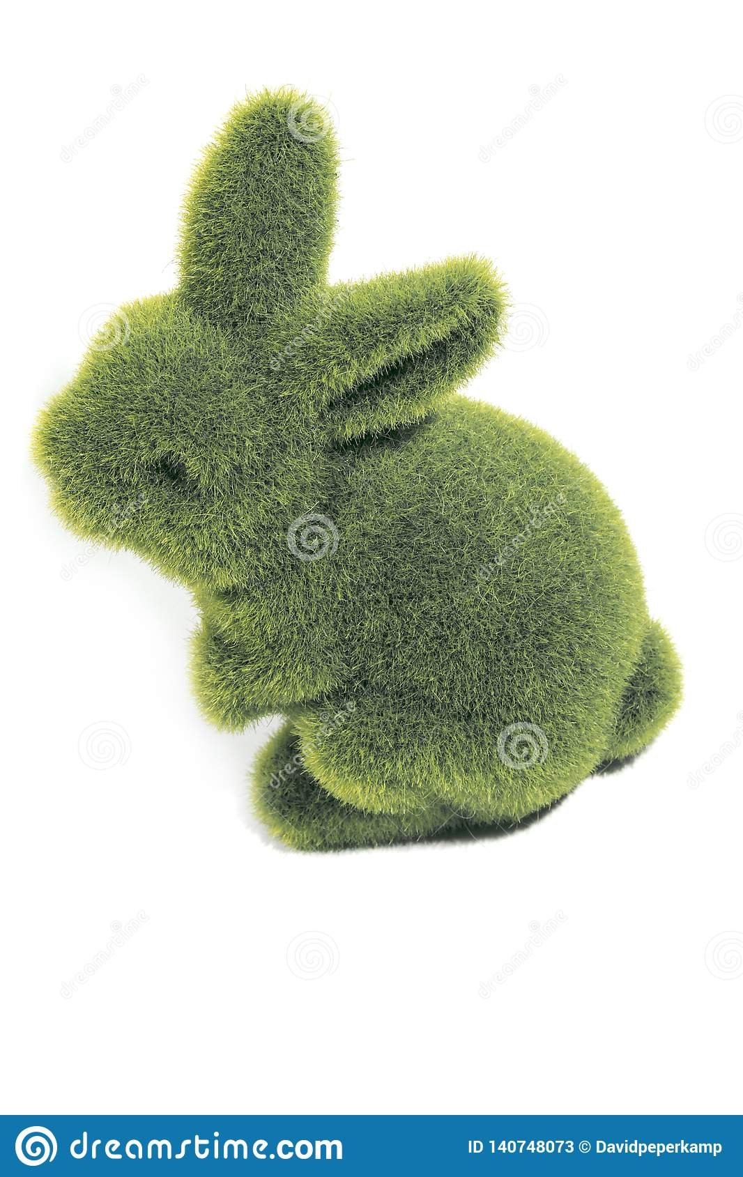 Grön päls- easter kanin
