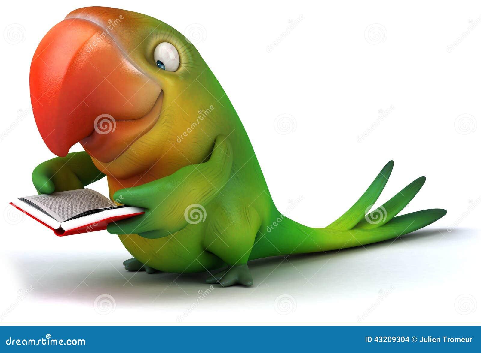 Download Grön papegoja stock illustrationer. Illustration av öga - 43209304