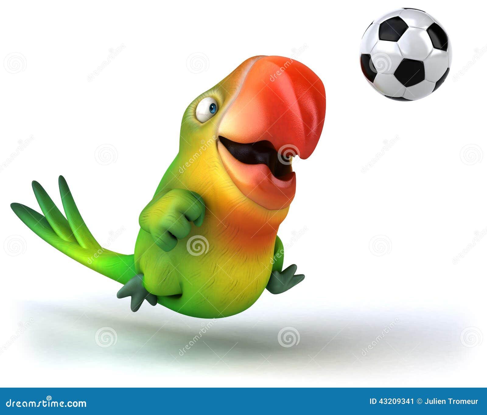 Download Grön papegoja stock illustrationer. Illustration av leende - 43209341