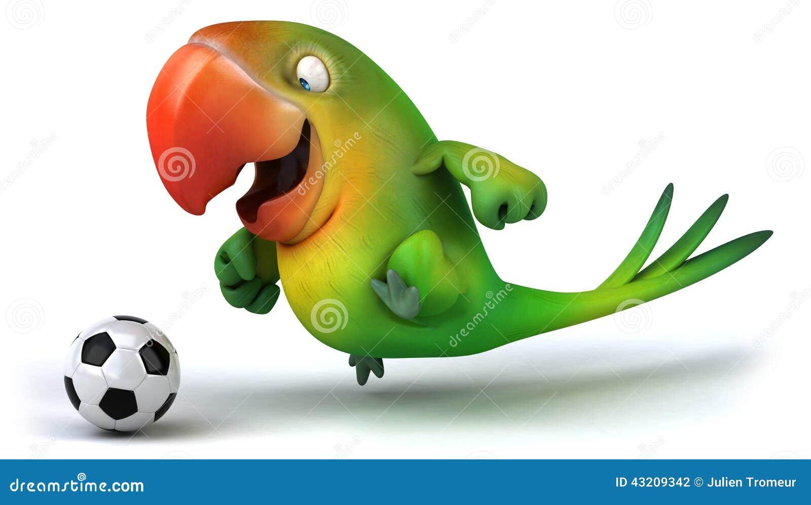 Download Grön papegoja stock illustrationer. Illustration av flyg - 43209342