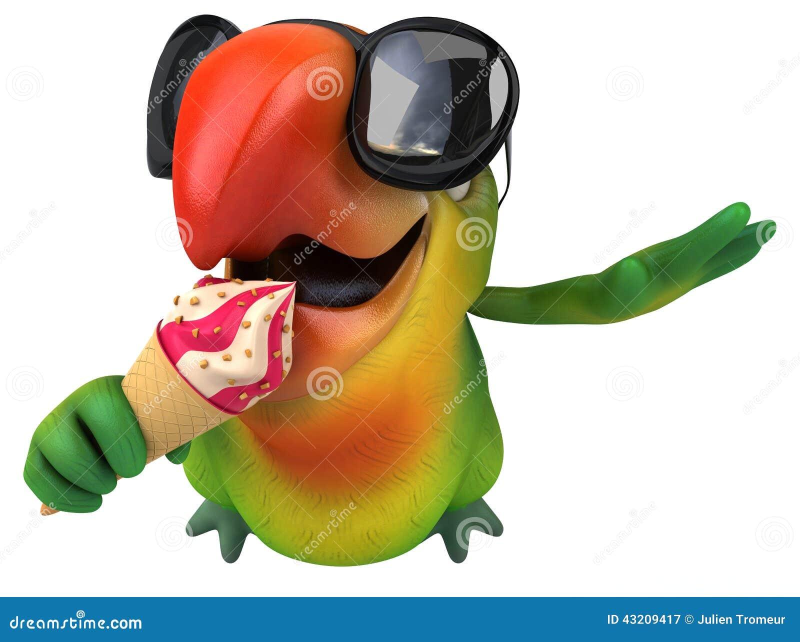 Download Grön papegoja stock illustrationer. Illustration av fjäder - 43209417