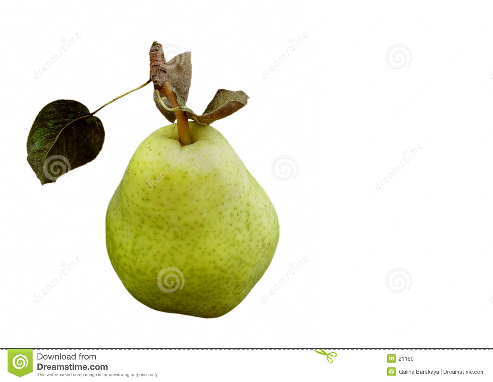 Grön pear