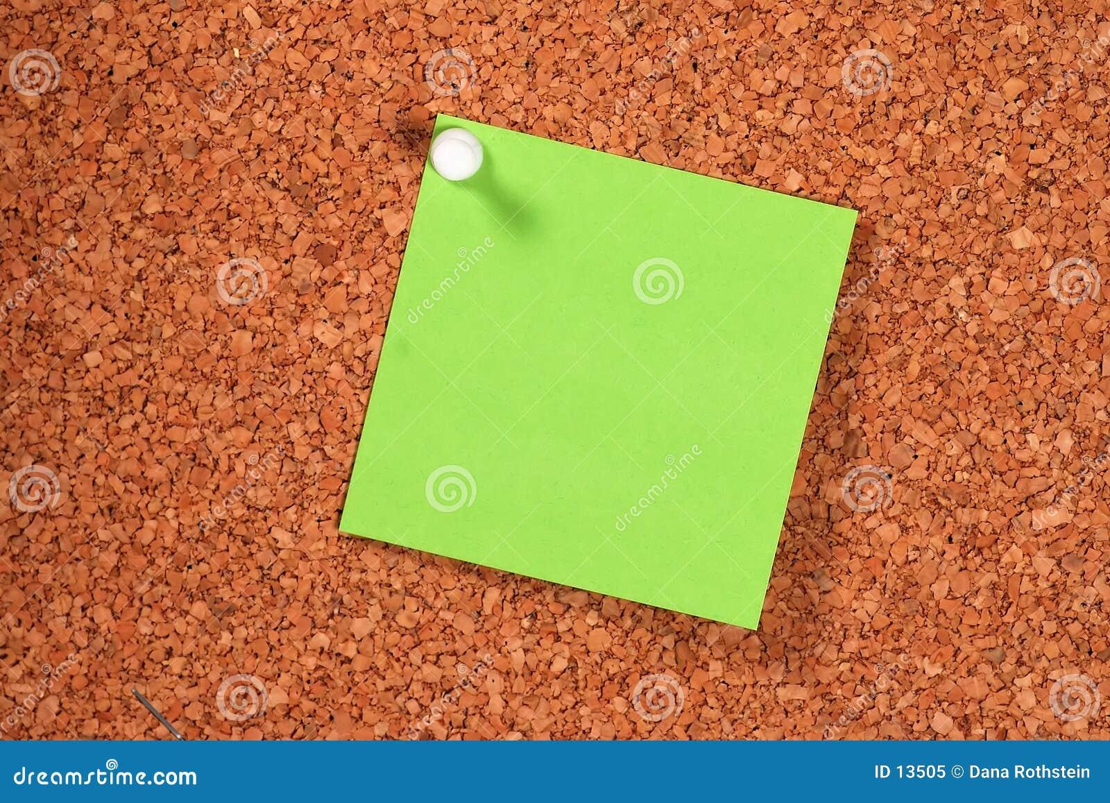 Grön postit