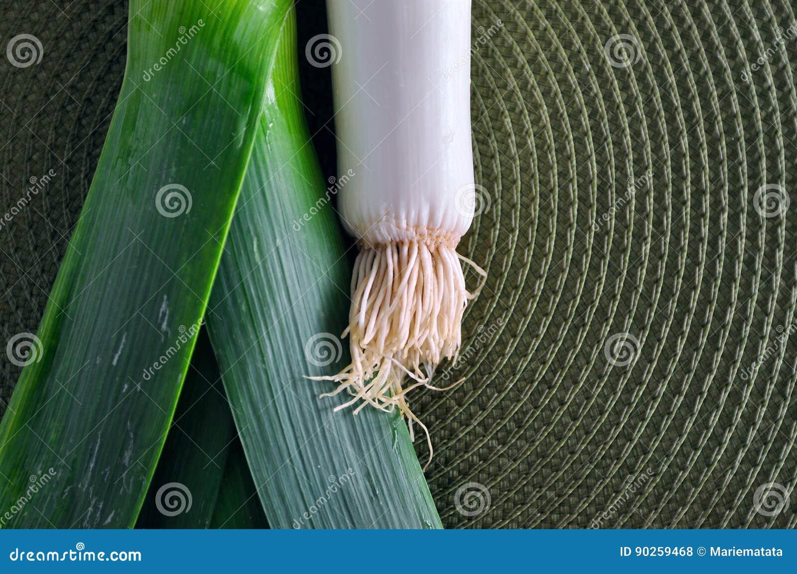 Grön purjolöklök