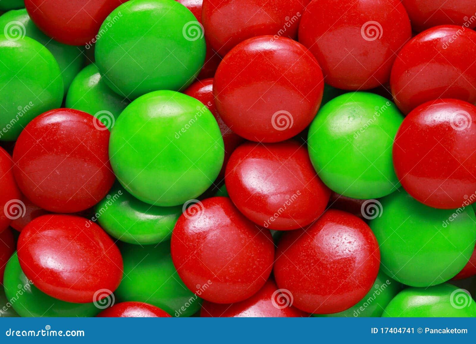 Grön red för godisar