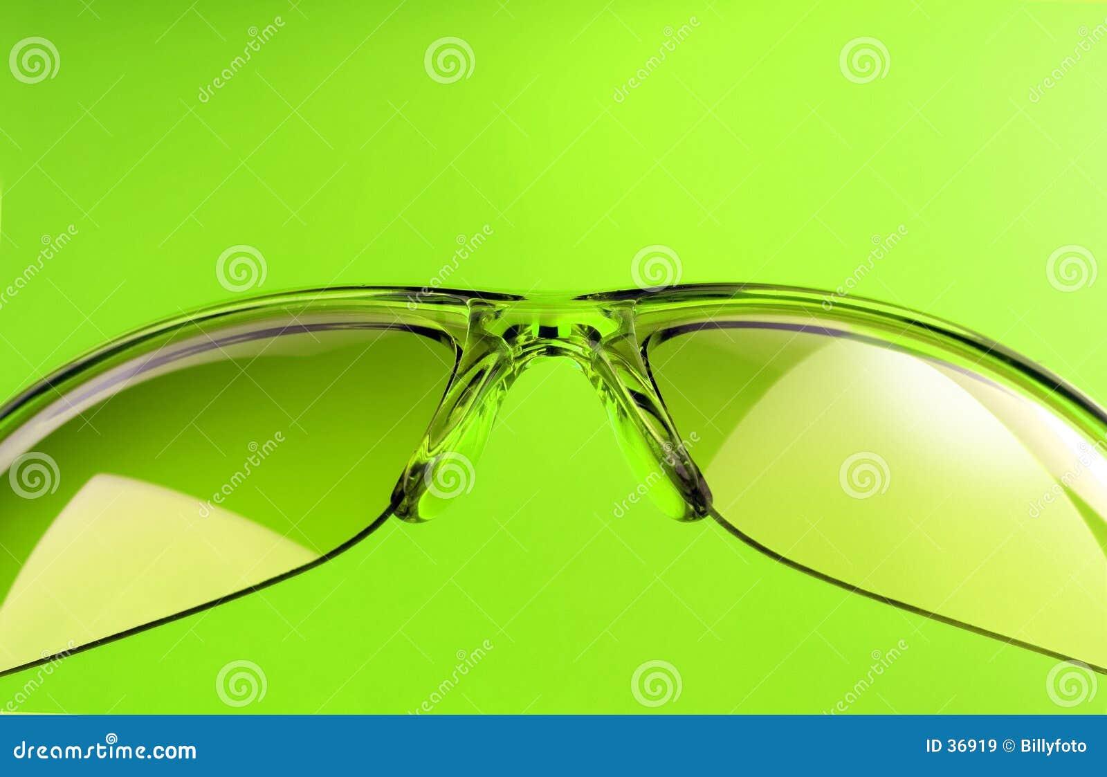 Grön solglasögon