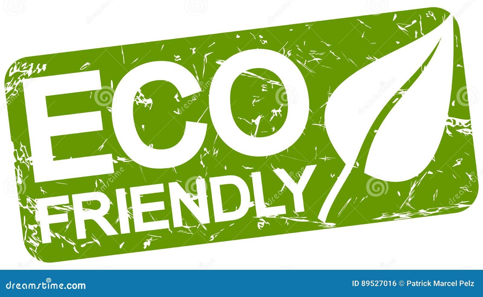 Grön stämpel med vänskapsmatch för text ECO