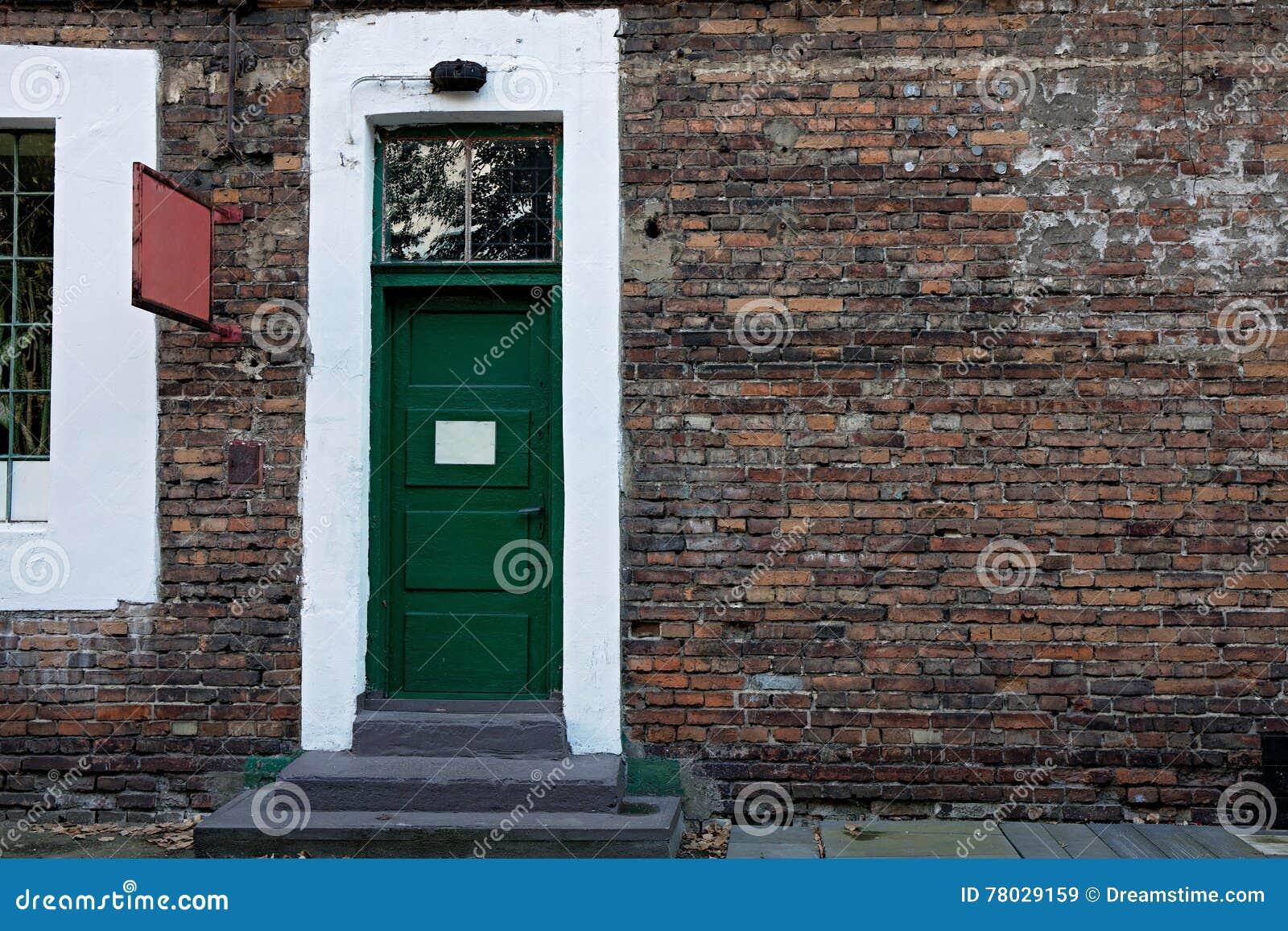 Grön tappning för dörr