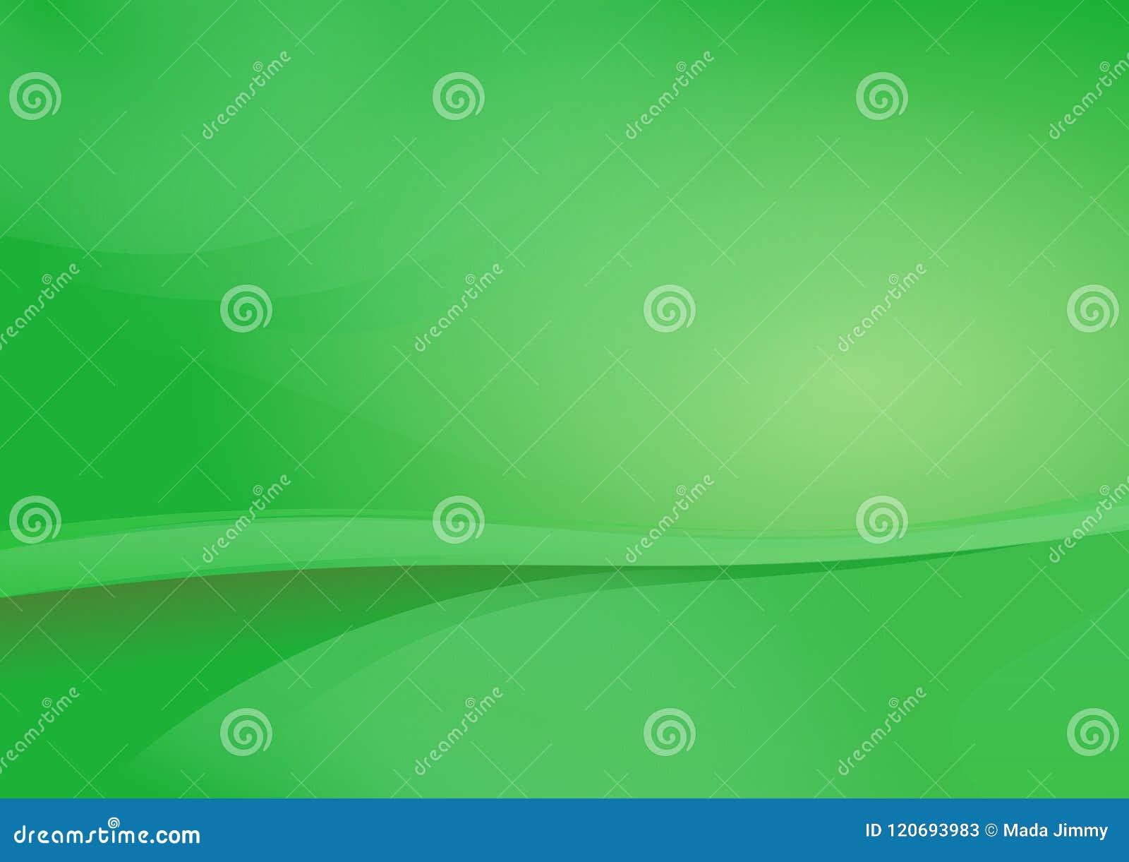 Grön vektor för kurvabstrakt begreppbakgrund