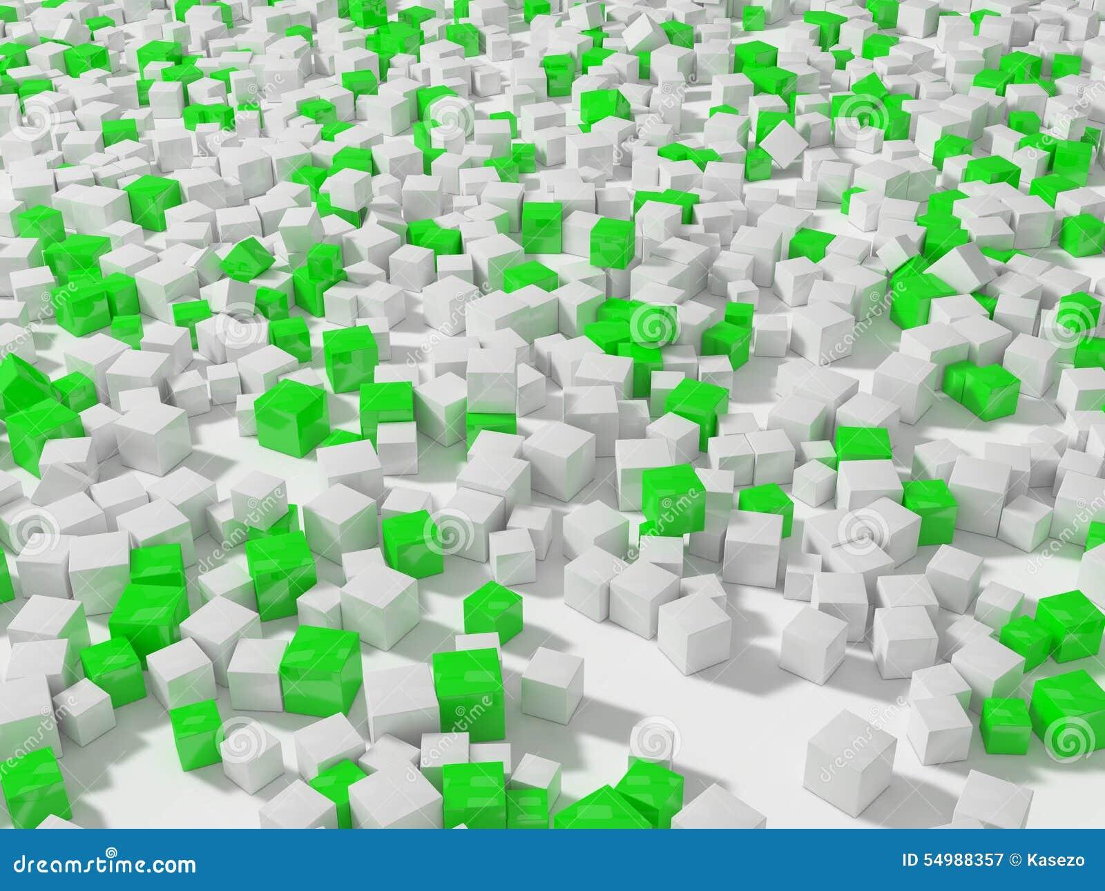 Grön white för kuber