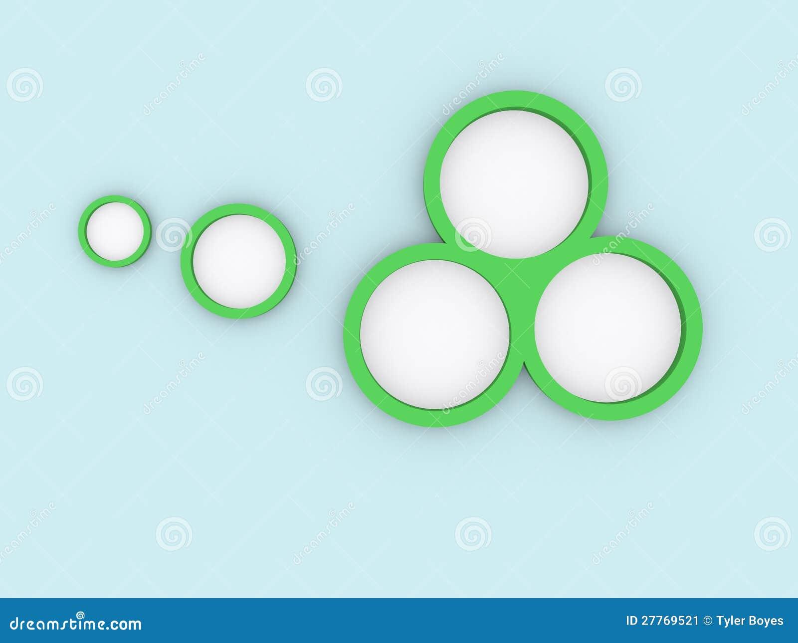 Gröna cirklar på blue