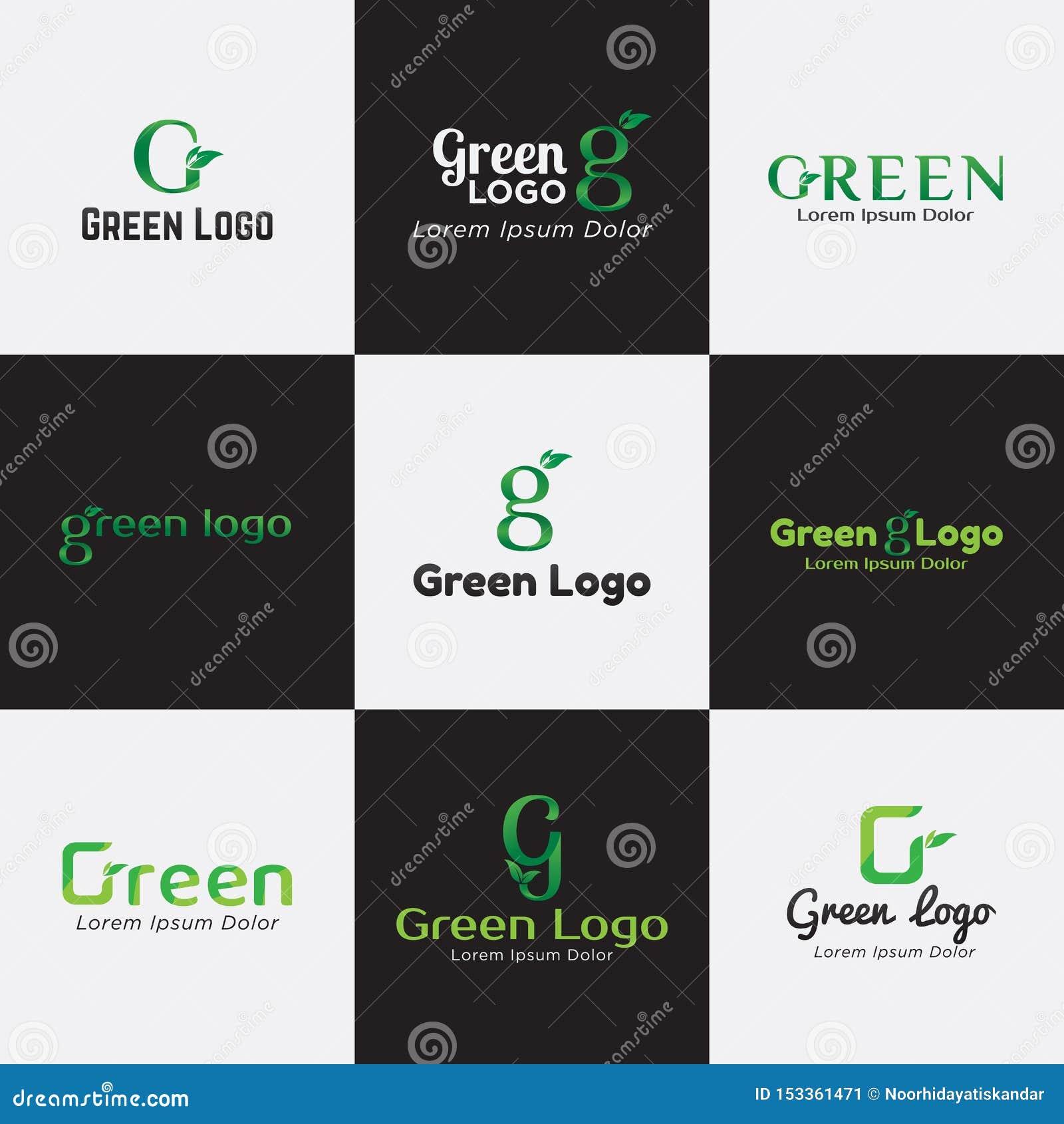 Gröna Logo Bundle Template för Affär, Företag, Asssociation, gemenskap och produkt