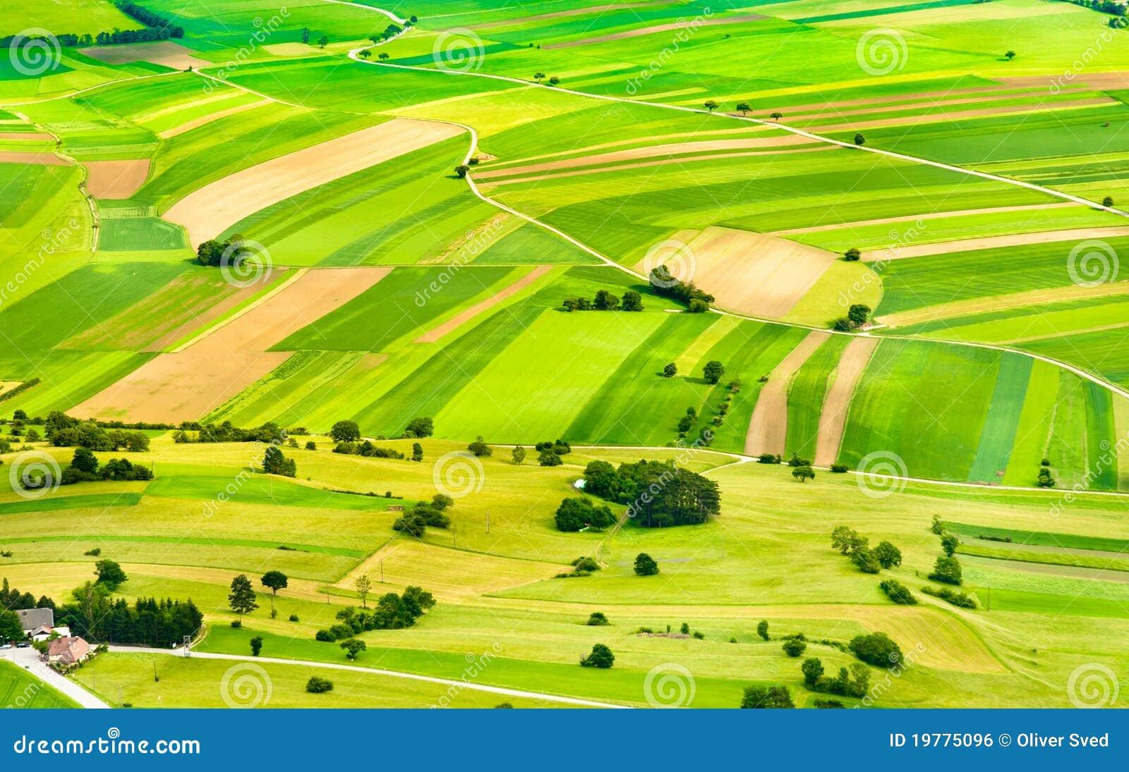 Gröna lutningar för fält