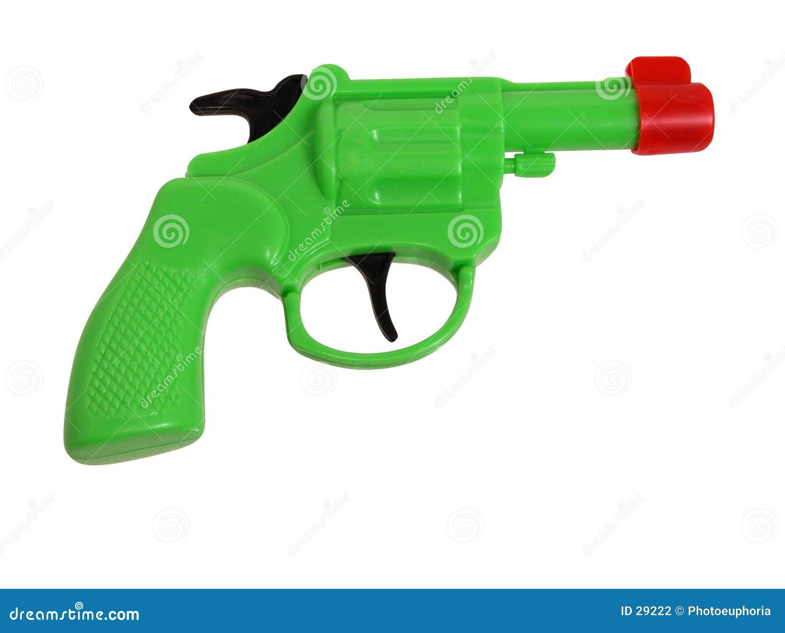 Gröna trycksprutaplast-toys