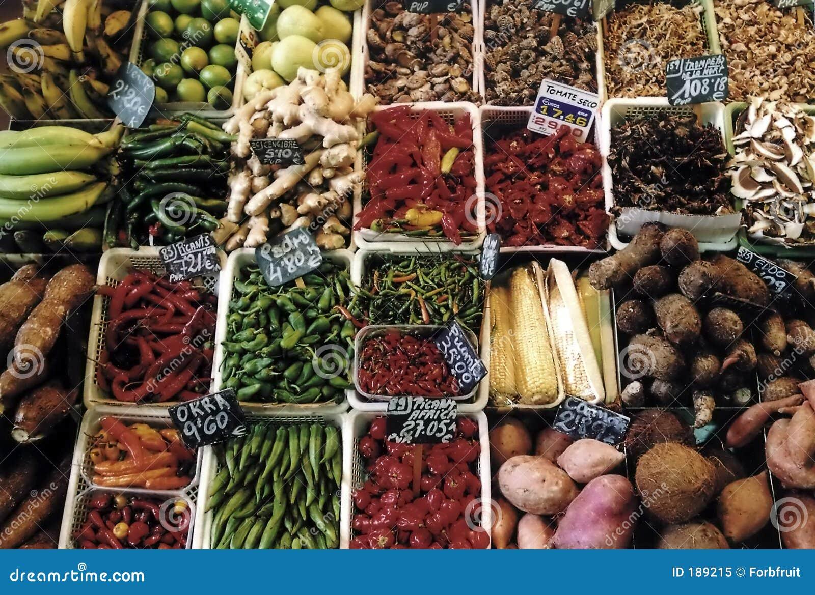 Grönsak för 001 barcelona boqueriafrukter