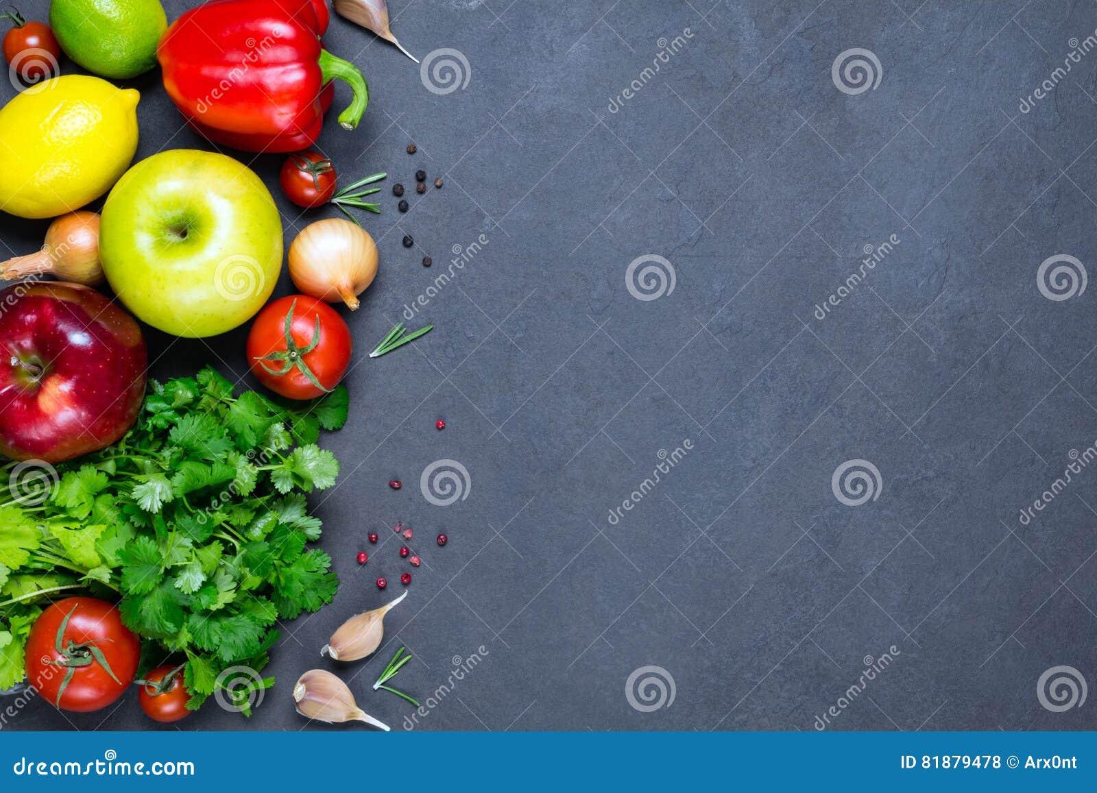Grönsaker, kryddor och frukter, ingredienser för ny mat