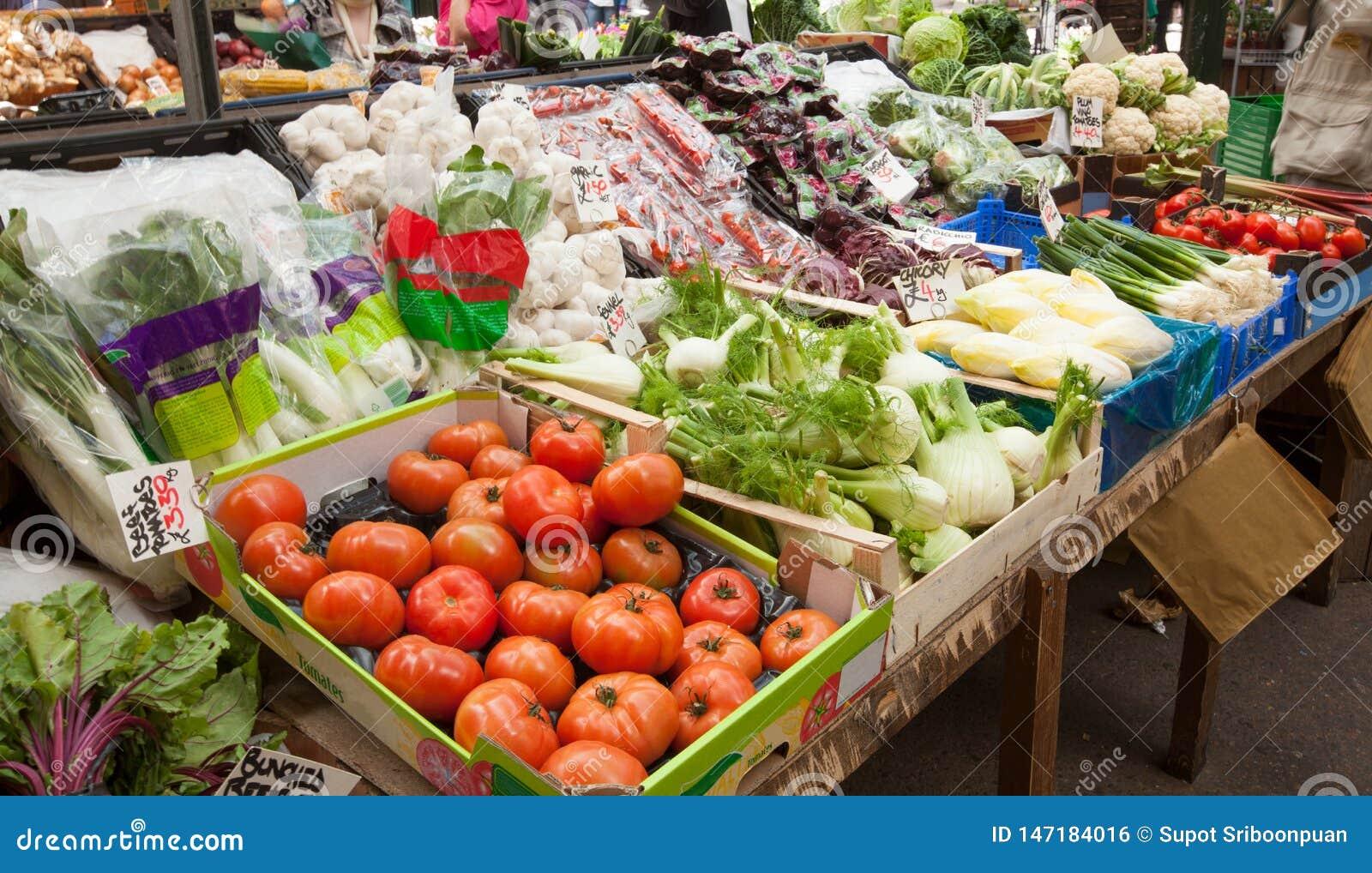 Grönsakmarknad i UK