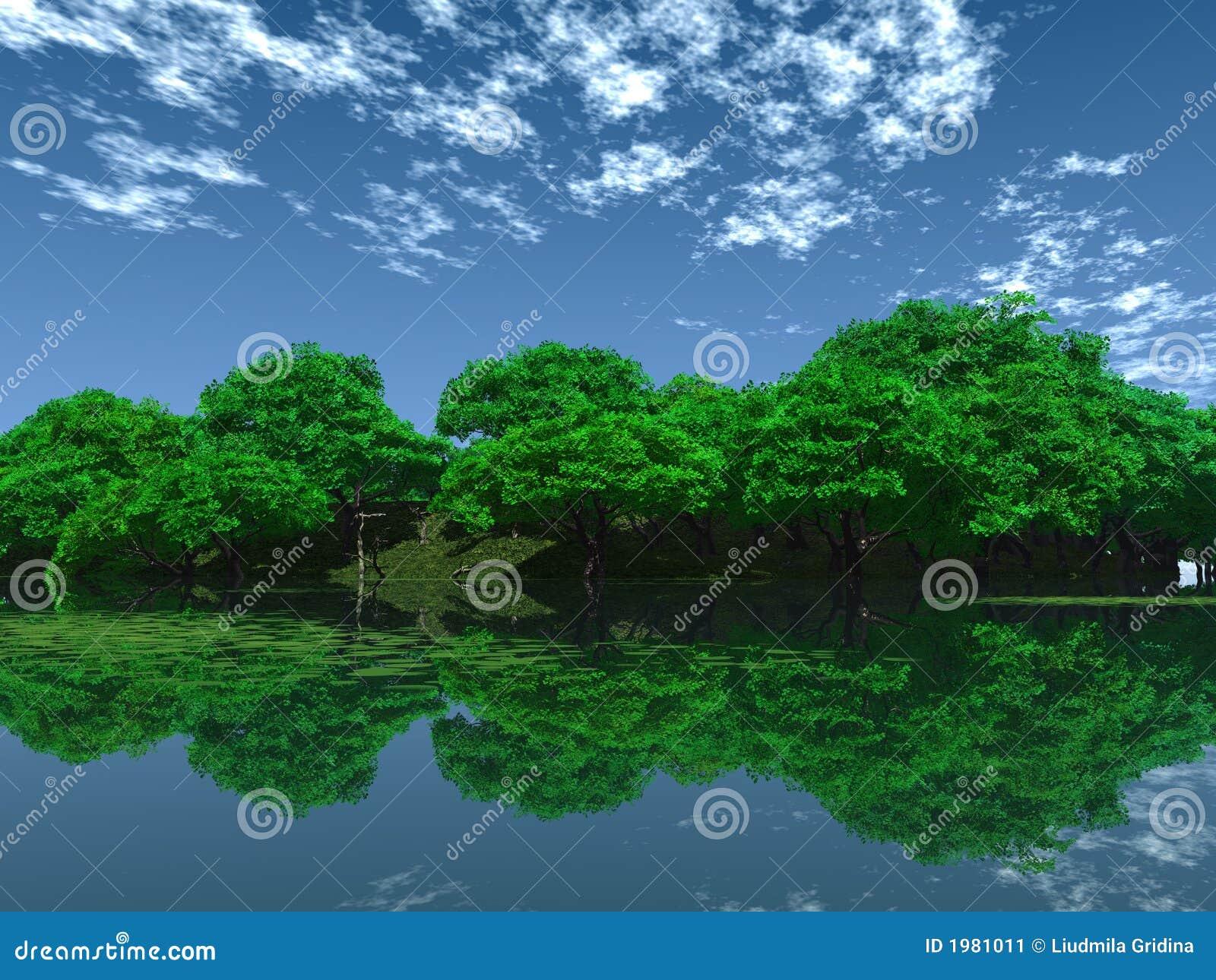 Grönt damm