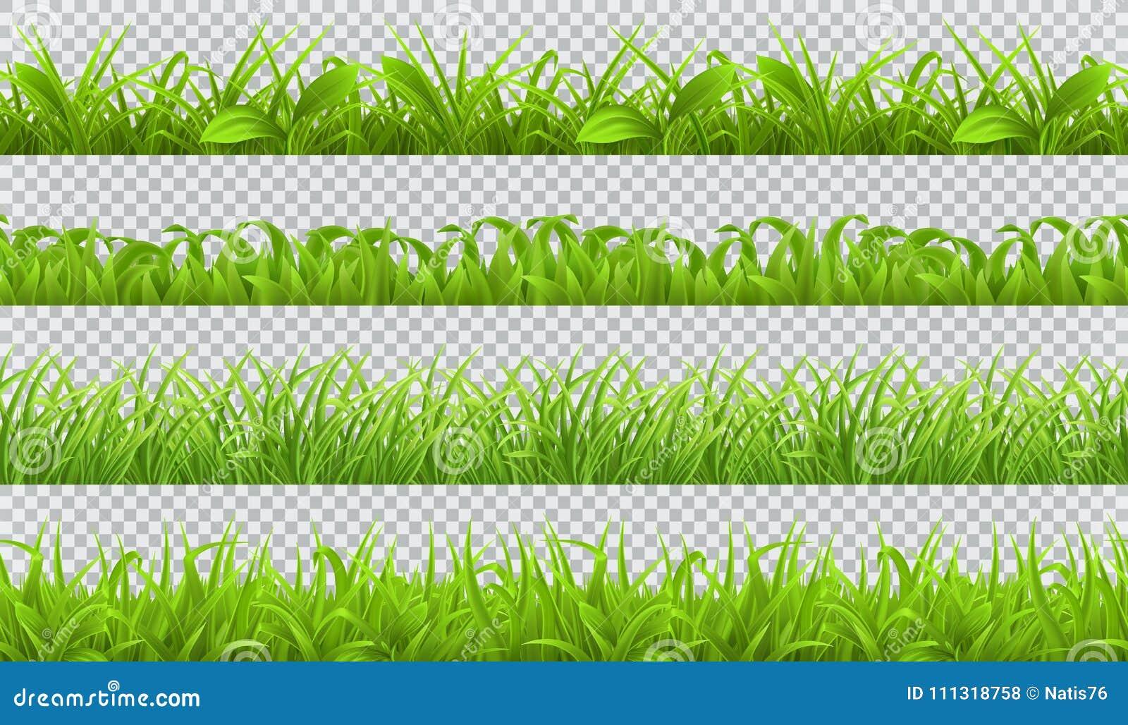 Grönt gräs för vår, sömlös modell uppsättning för vektor 3d