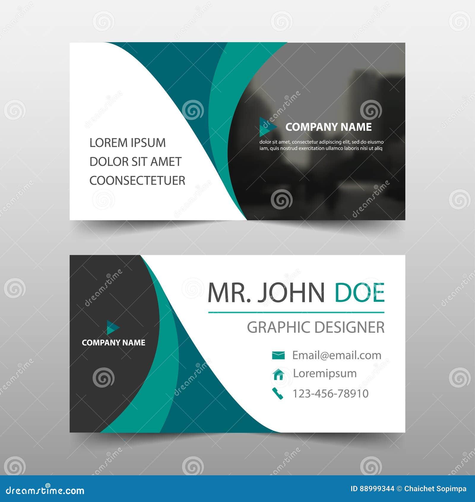 Grönt kort för företags affär för kurva, mall för känt kort, horisontalenkel ren orienteringsdesignmall, affärsbanermall