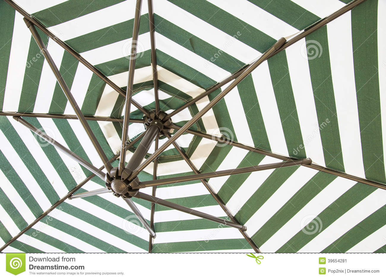 Grönt och vitt paraply