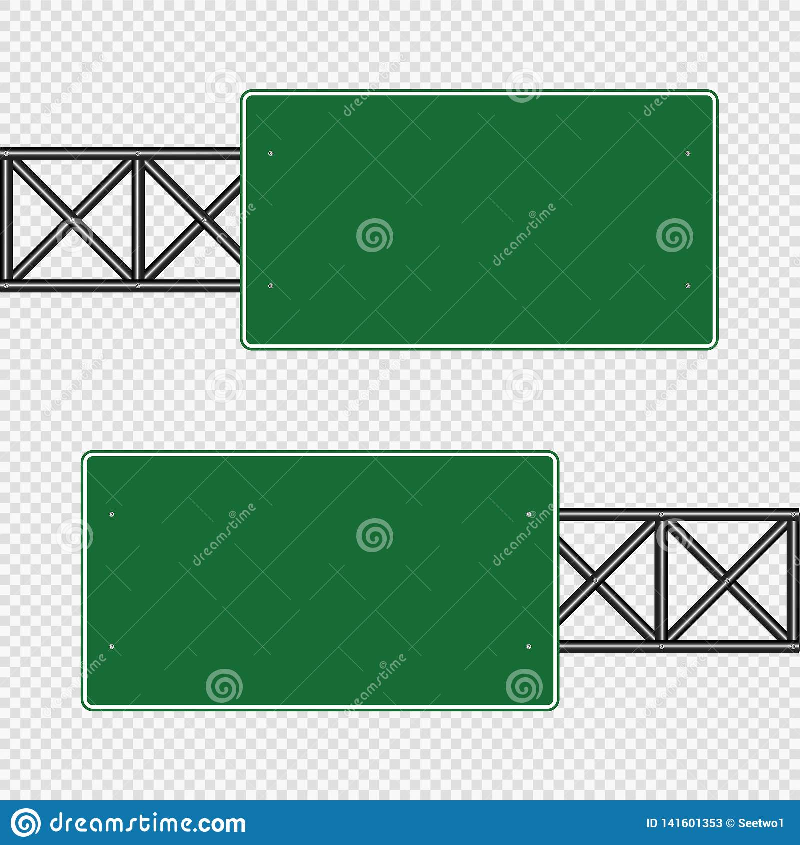 Grönt trafiktecken, vägbrädetecken som isoleras på genomskinlig bakgrund för illustrationsköld för 10 eps vektor