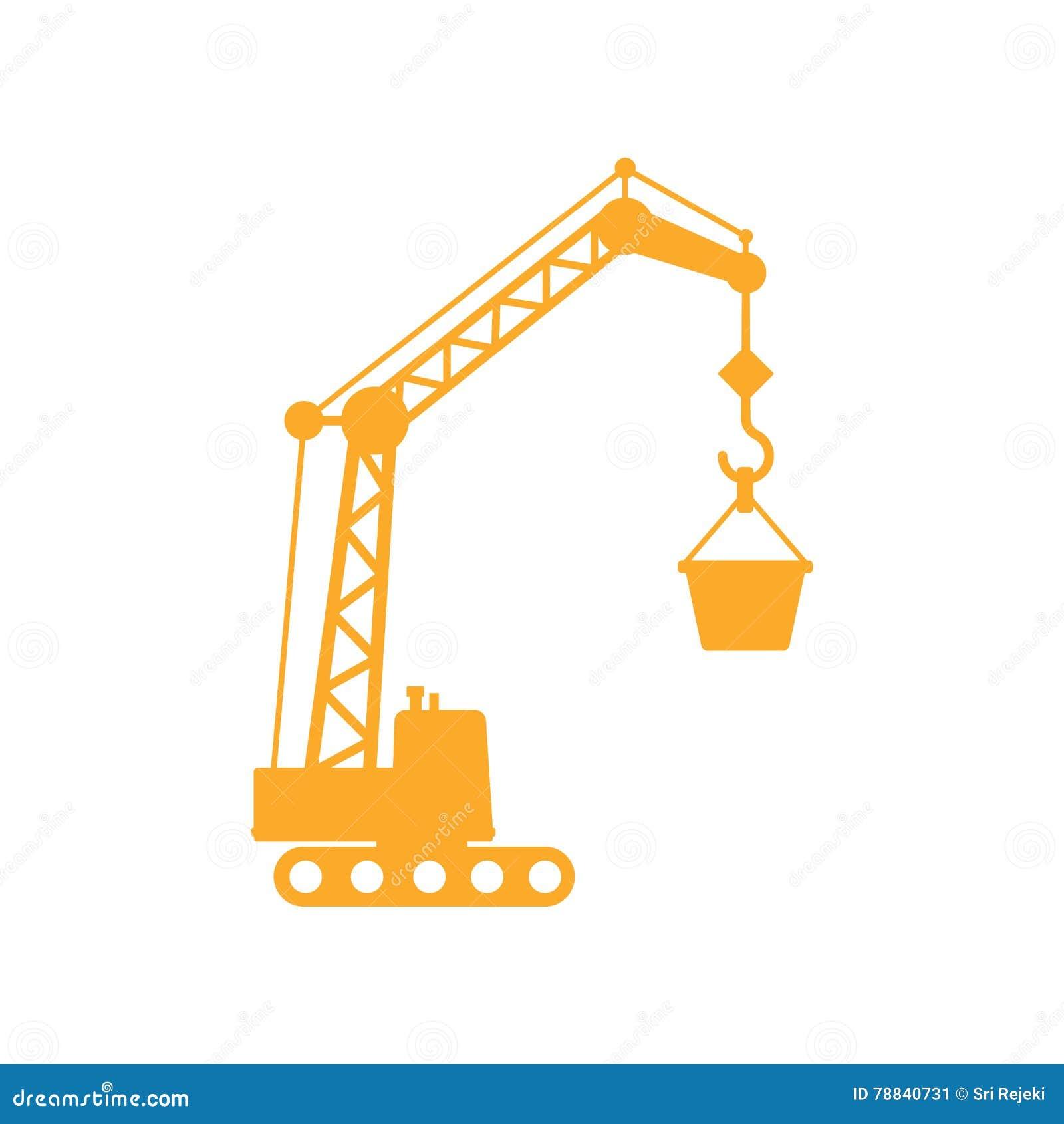 Grúa de construcciones amarilla