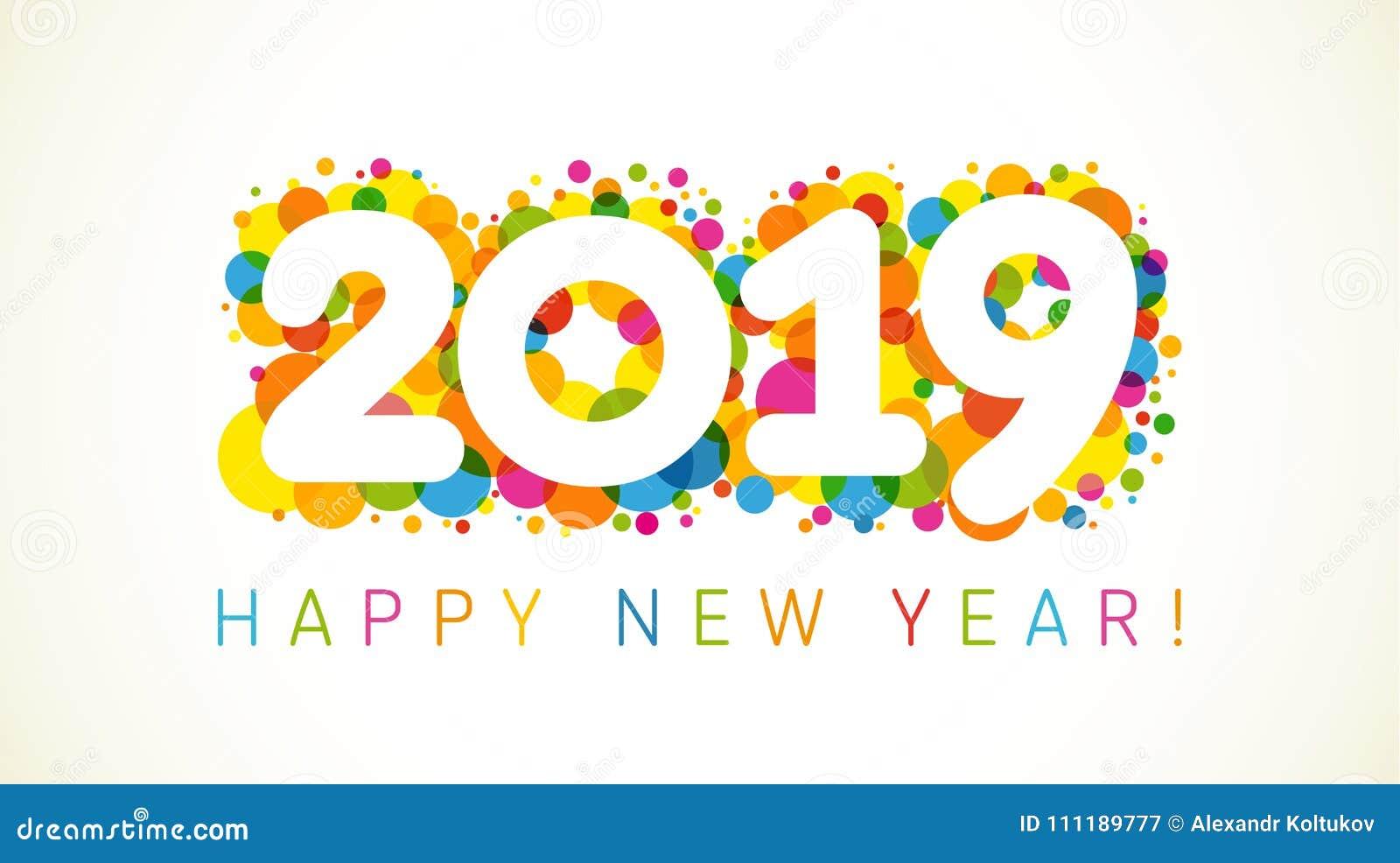 2019 Grüße Eines Guten Rutsch Ins Neue Jahr Vektor Abbildung ...