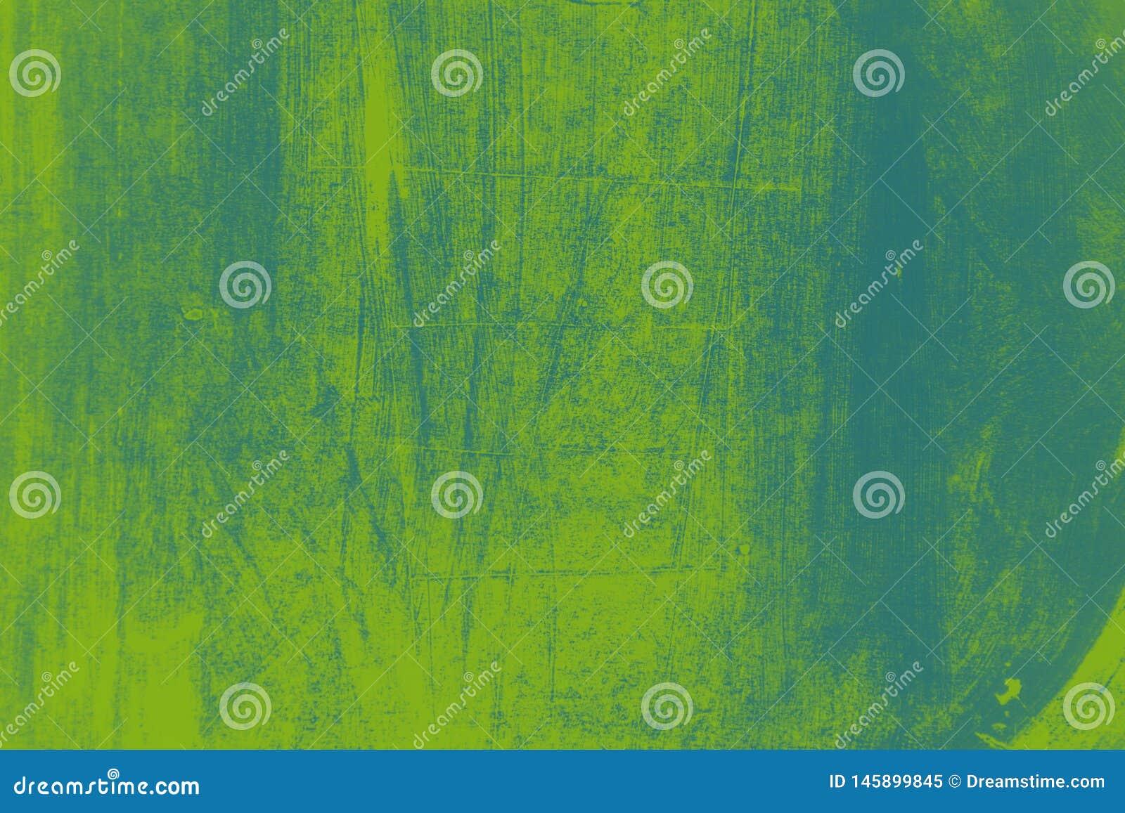 Grün-blauer Pinselanschlaghintergrund