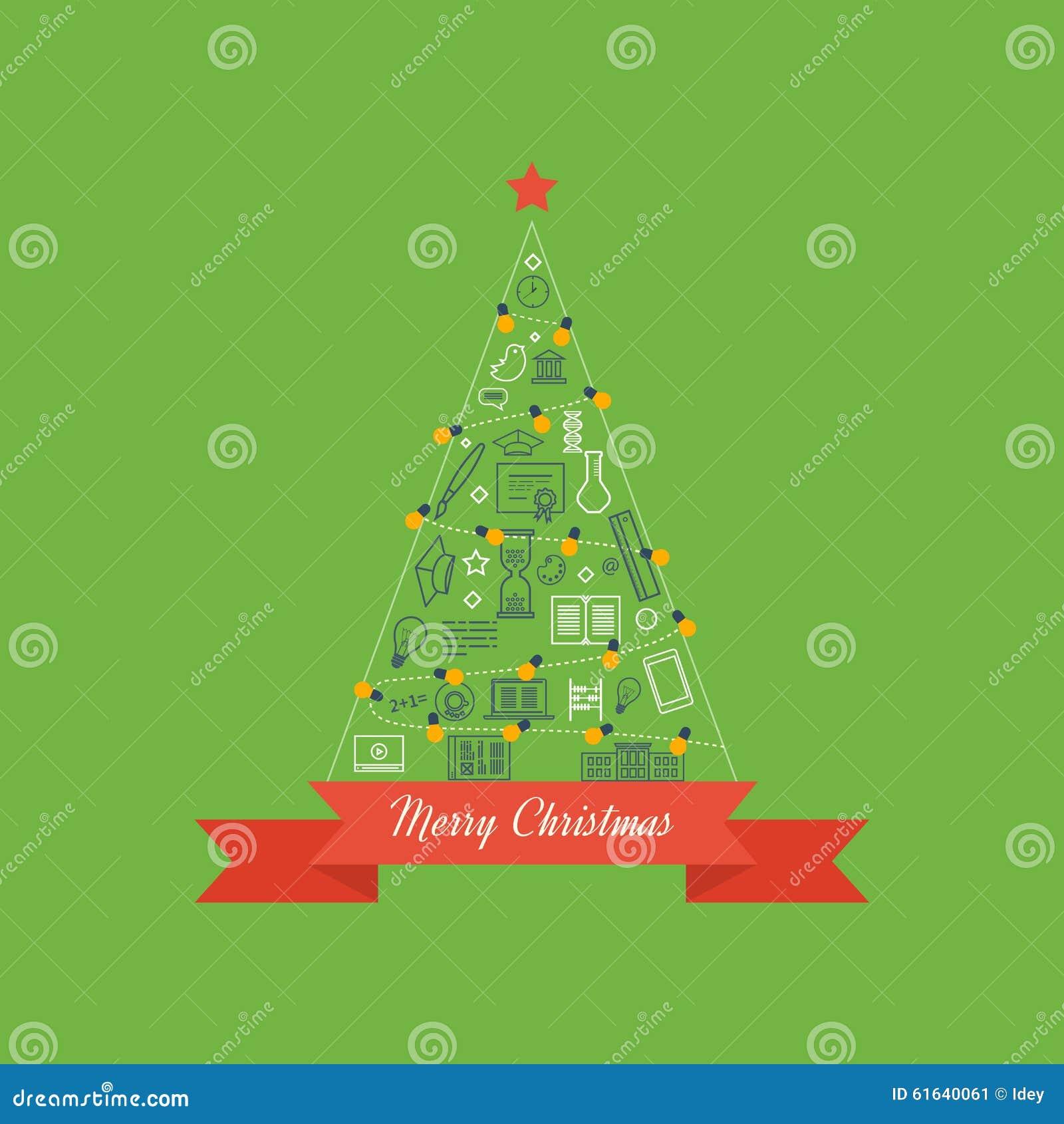 Grün-stilisierter Weihnachtsbaum Editable Vektorillustration Der ...