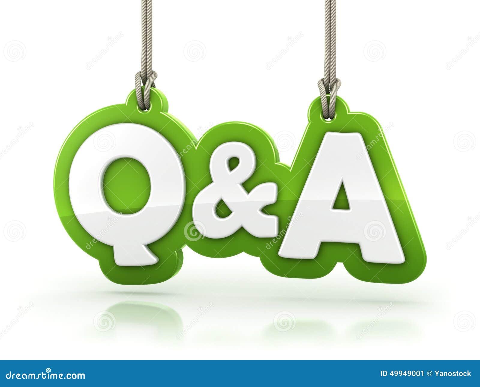 Grün-Worttext der Fragen und Antworten Q&A auf Weißrückseite