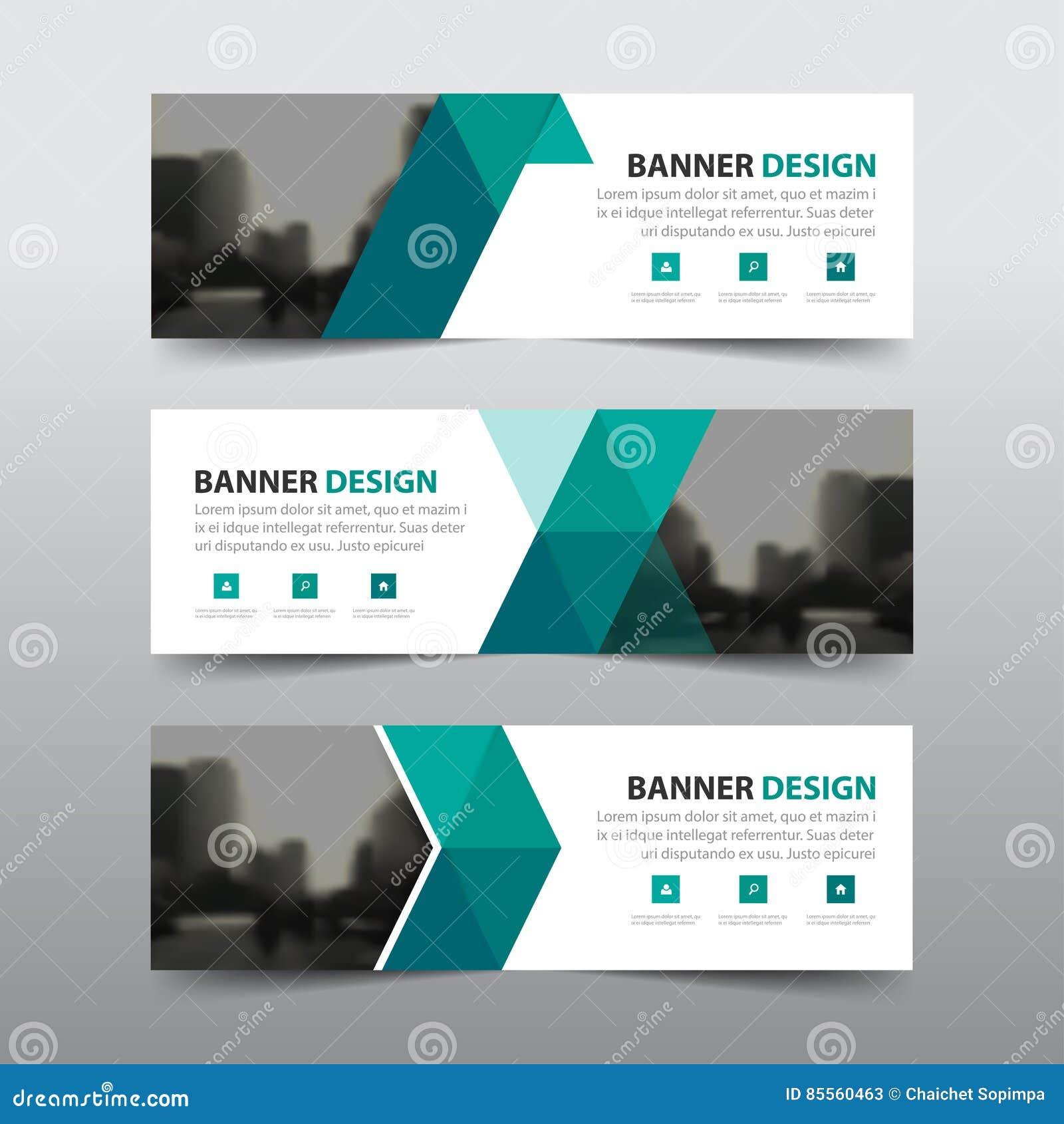 Grüne abstrakte Firmenkundengeschäftfahne des Dreiecks
