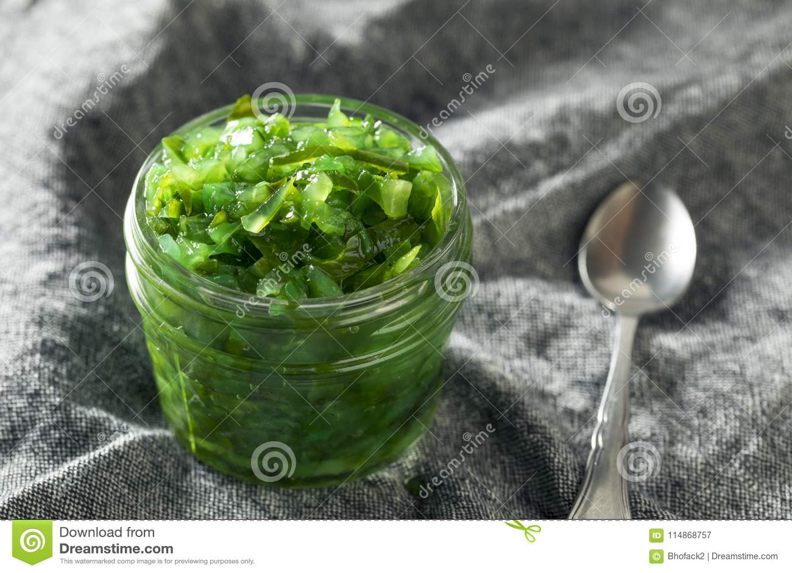 Grüne Chicago-Neonart-in Essig eingelegter Geschmack