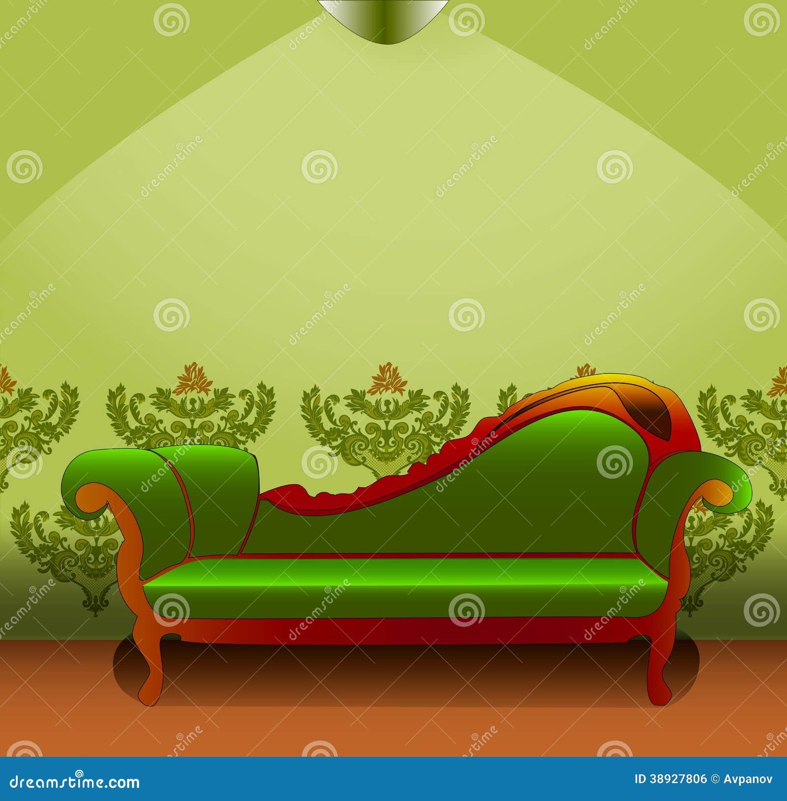 gr ne couch vektor abbildung bild 38927806. Black Bedroom Furniture Sets. Home Design Ideas