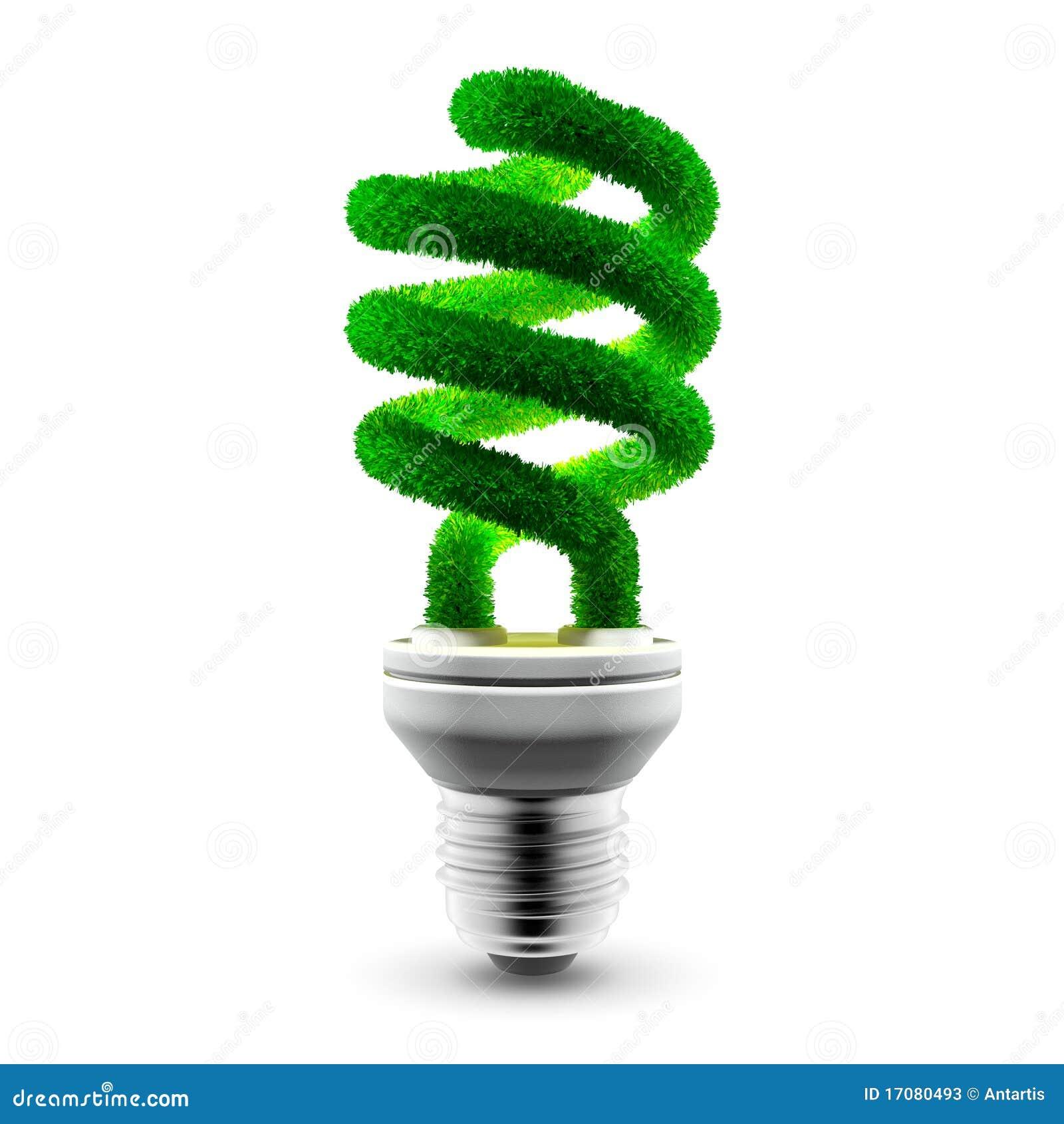 Grüne energiesparende Lampe