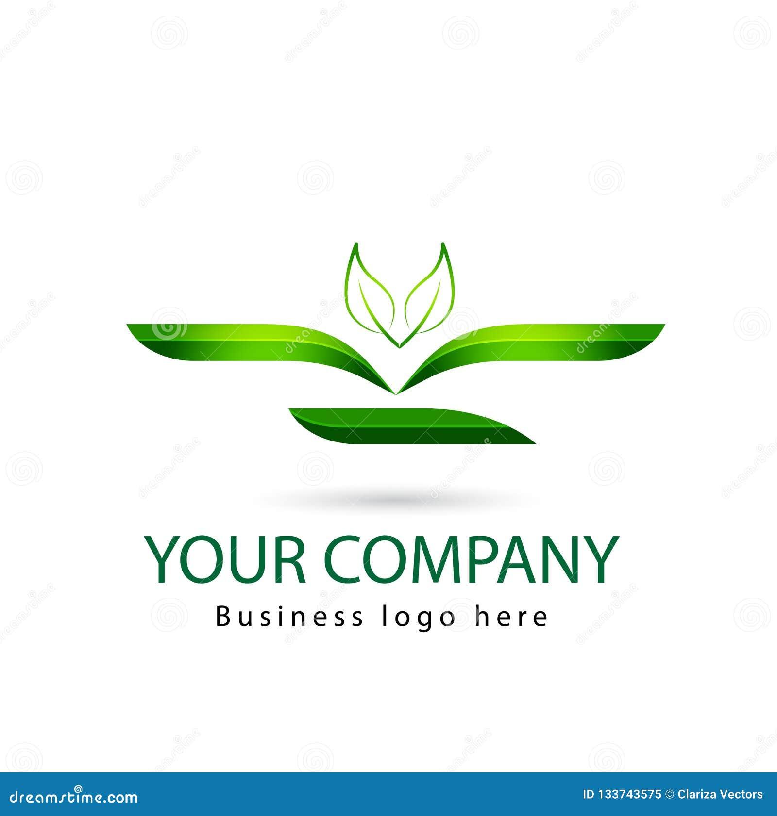 Grüne Farbeblatt, Anlage, Logosatz, Ökologie, Leute, Wellness, Blätter, Natursymbolikonen-Vektorentwürfe