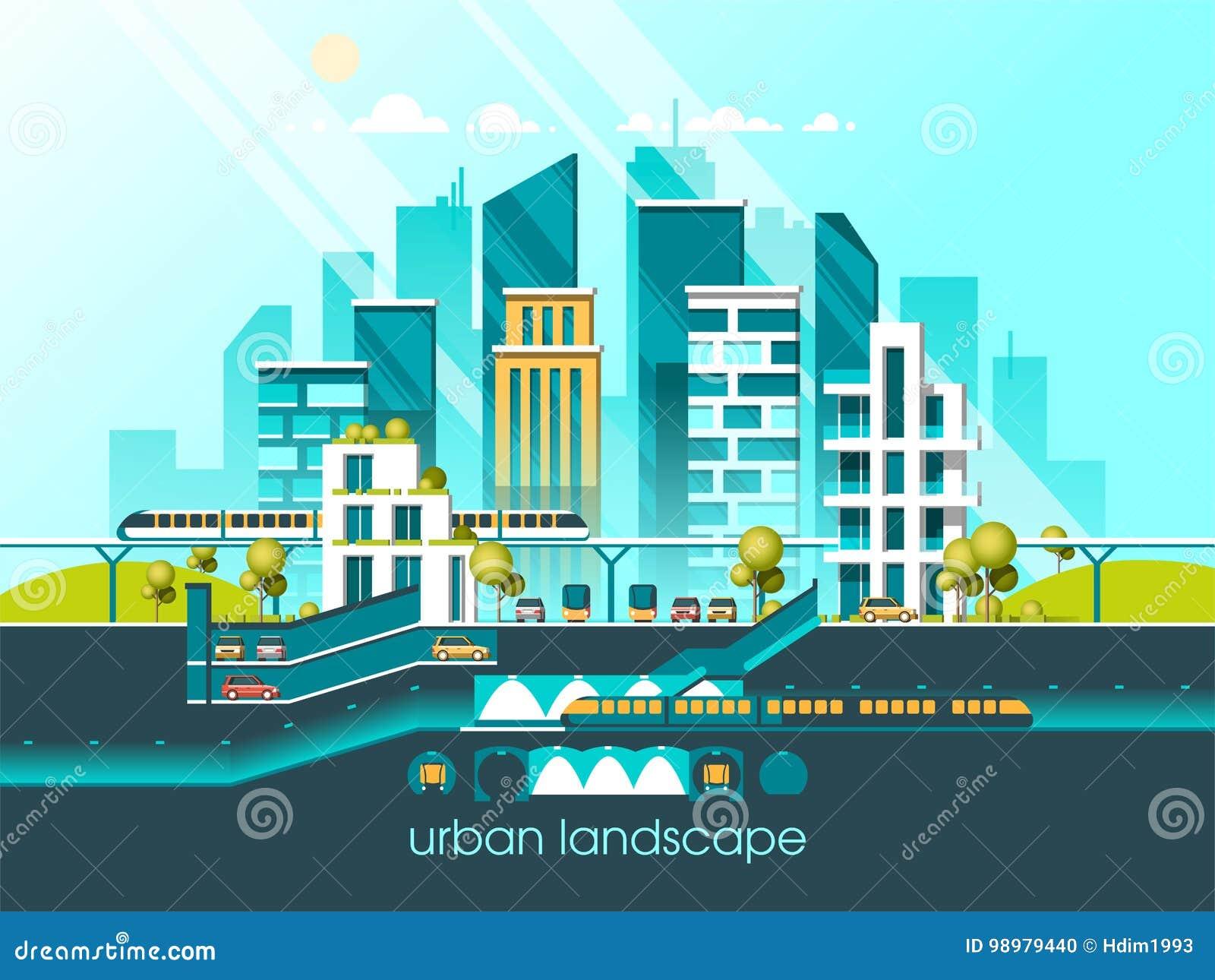 Grune Freundliche Stadt Der Energie Und Des Eco Moderne Architektur
