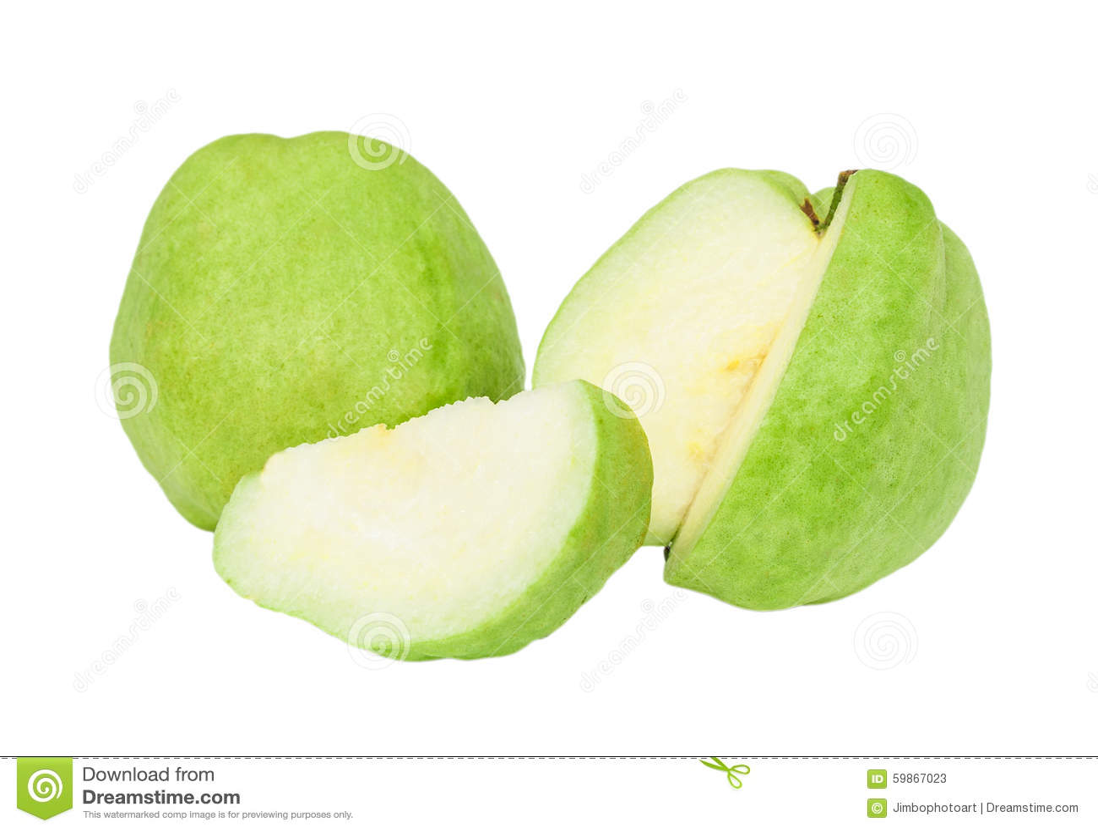 Grüne Fruchtfarbe Der Guave Von Der Tropischen Zone Lokalisiert ...
