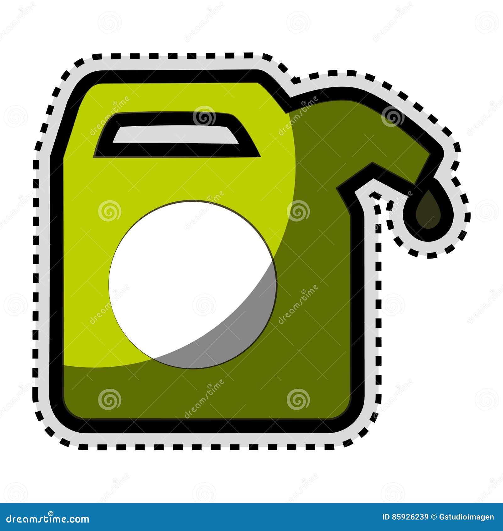 Grüne Gallone lokalisierte Ikone